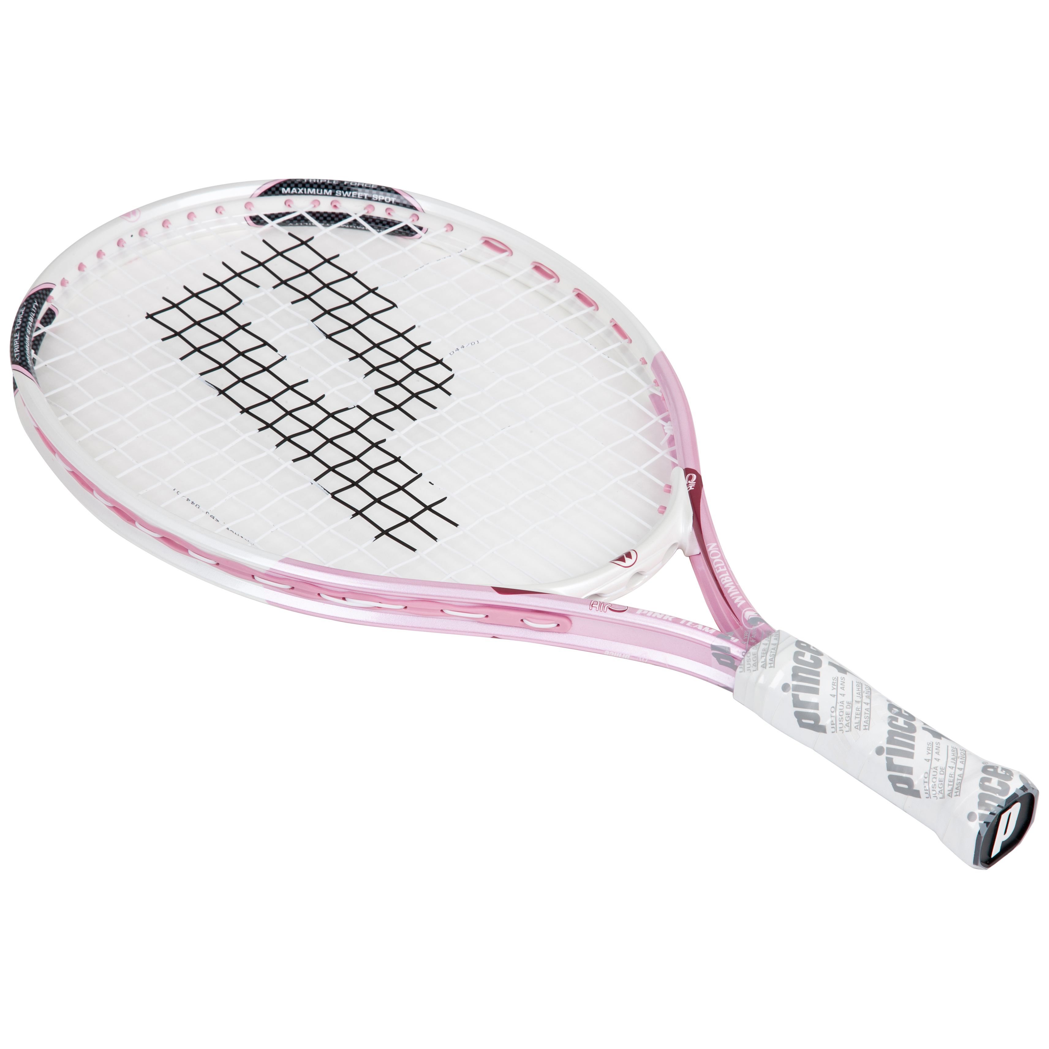 Wimbledon By Prince Airo Pink Team 19 Tennis Racket - White/Pink