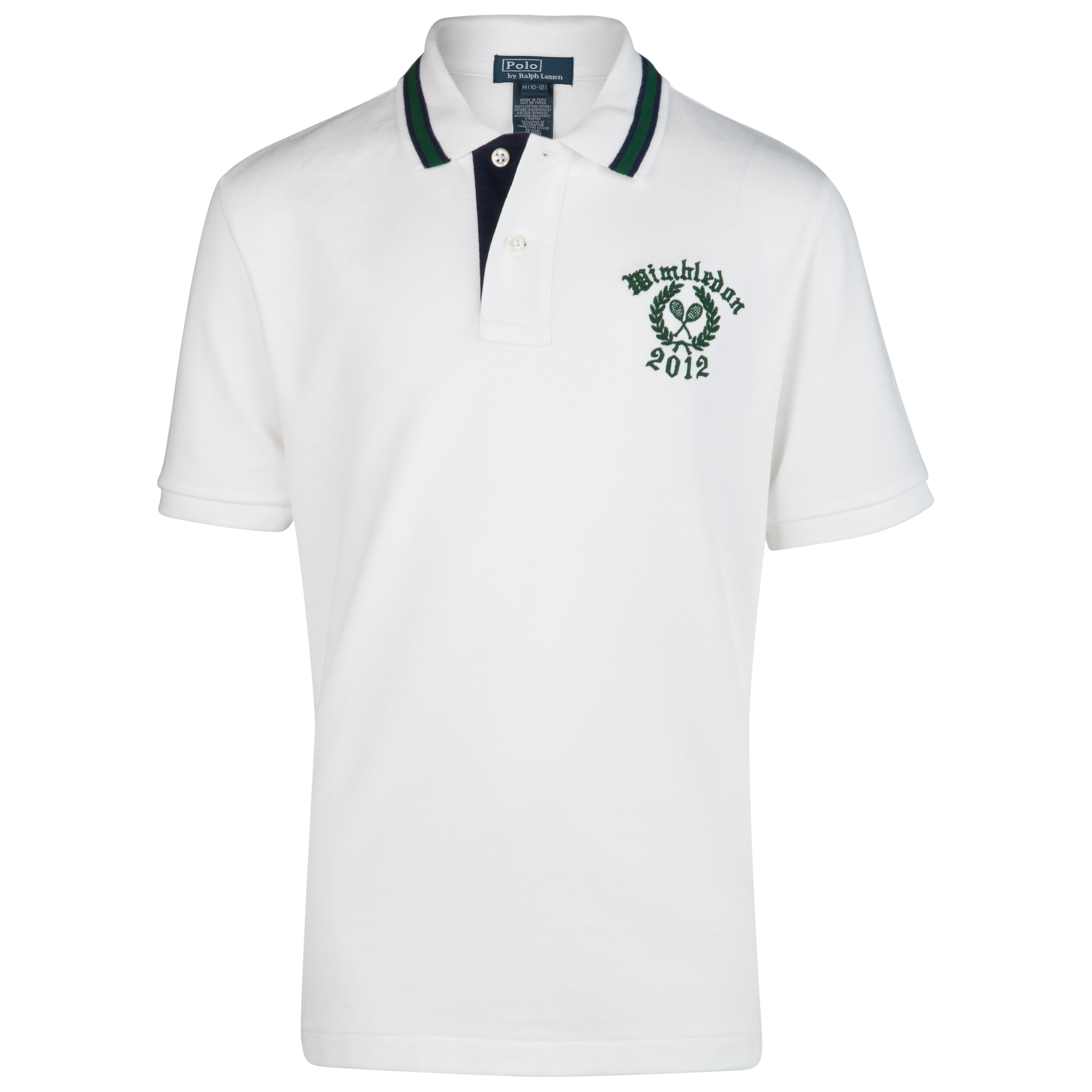 Polo Ralph Lauren Wimbledon Big PP Mesh Polo - Classic Oxford White - Older Boys
