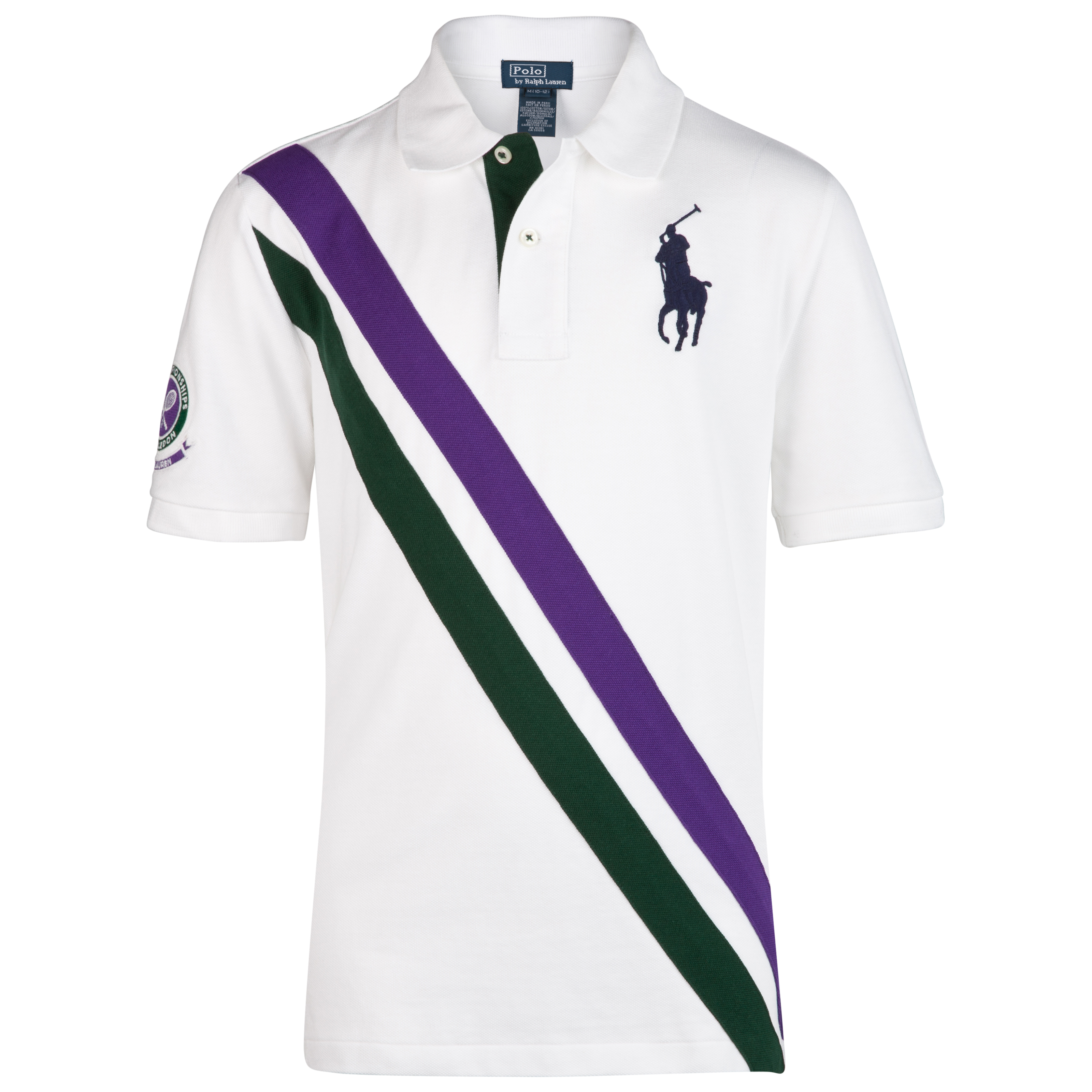 Polo Ralph Lauren Wimbledon Banner Mesh  Polo - Classic Oxford White - Older Boys