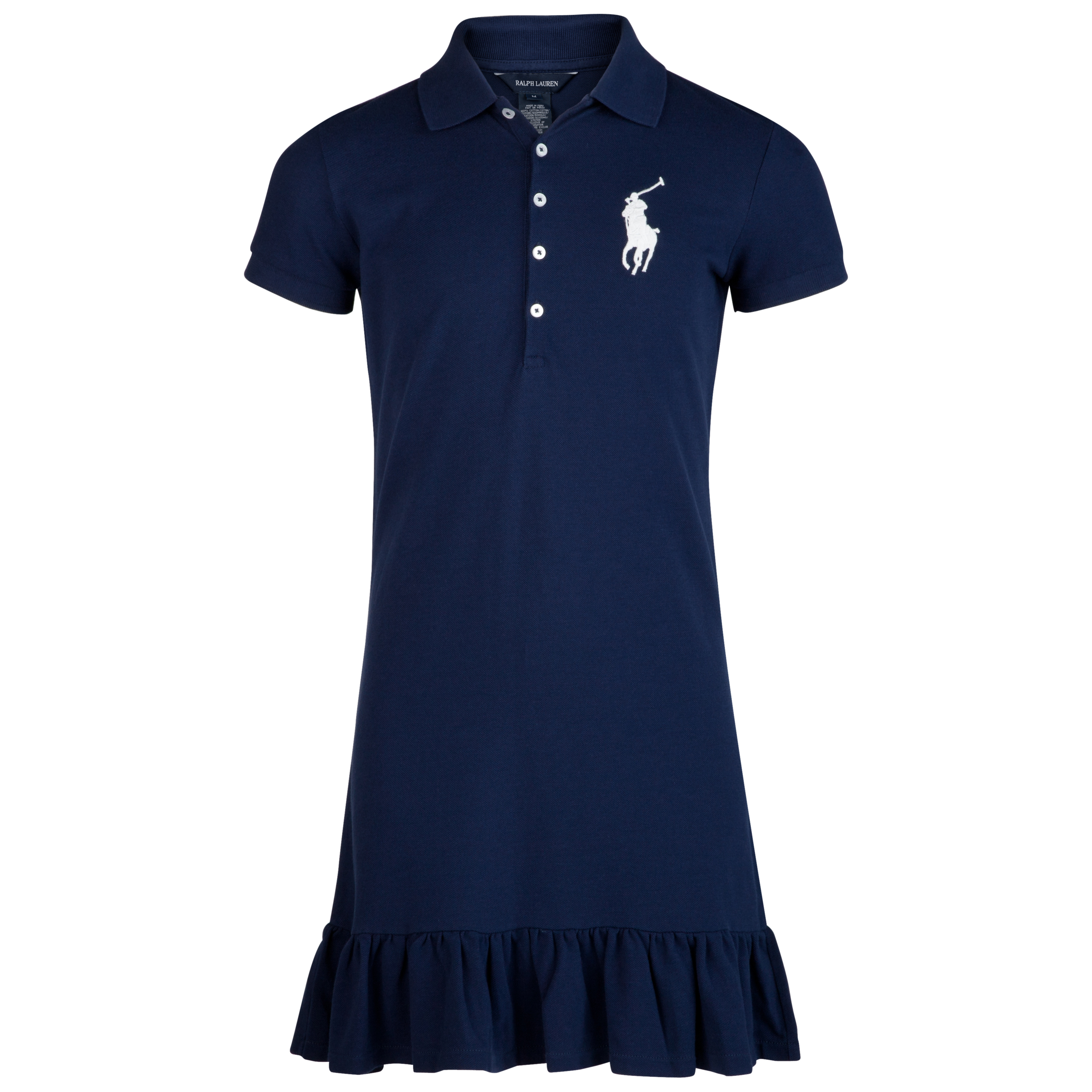Polo Ralph Lauren Polo Dress Mesh Polo - French Navy - Older Girls