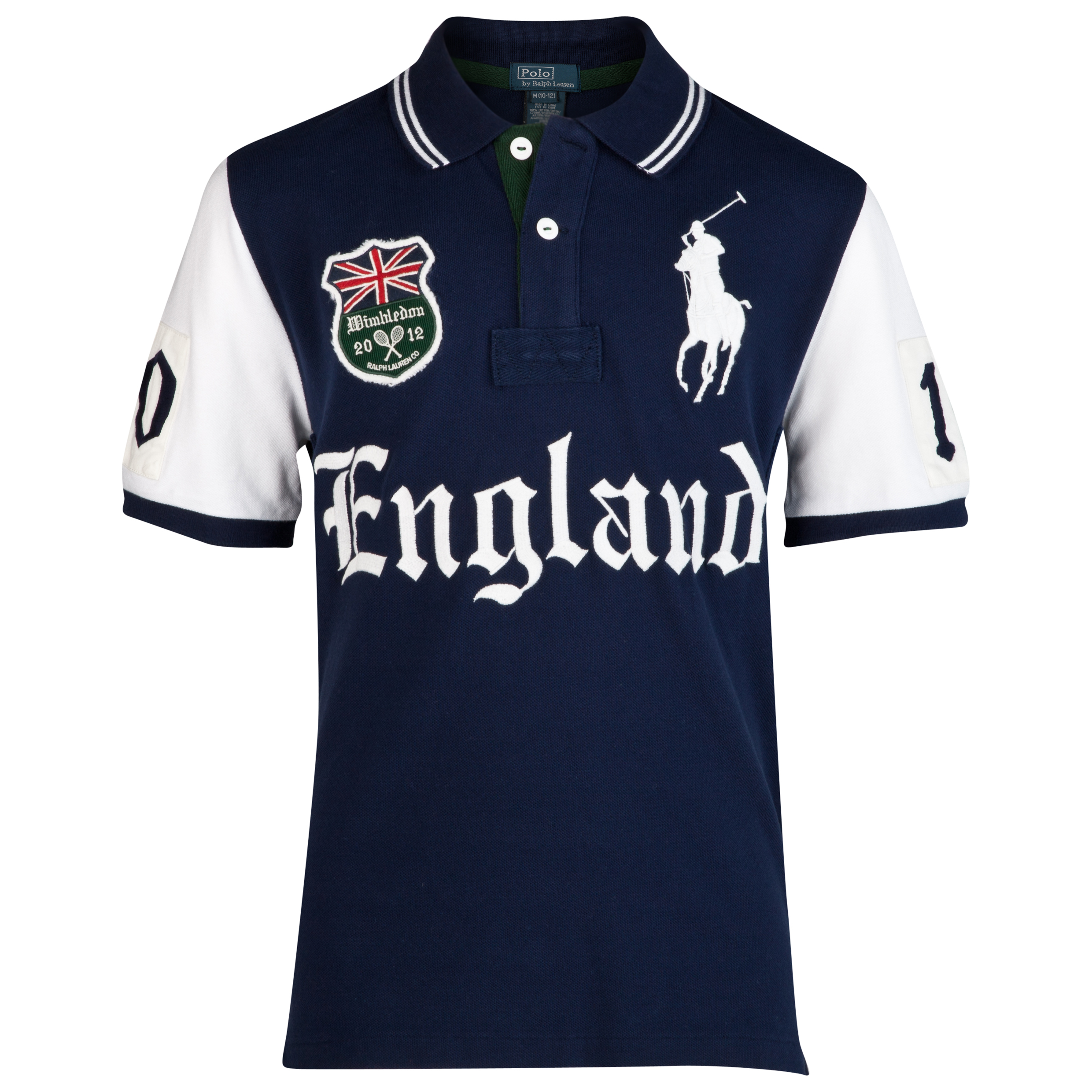 Polo Ralph Lauren Wimbledon England Pieced Mesh  Polo - French Navy - Infant Girls