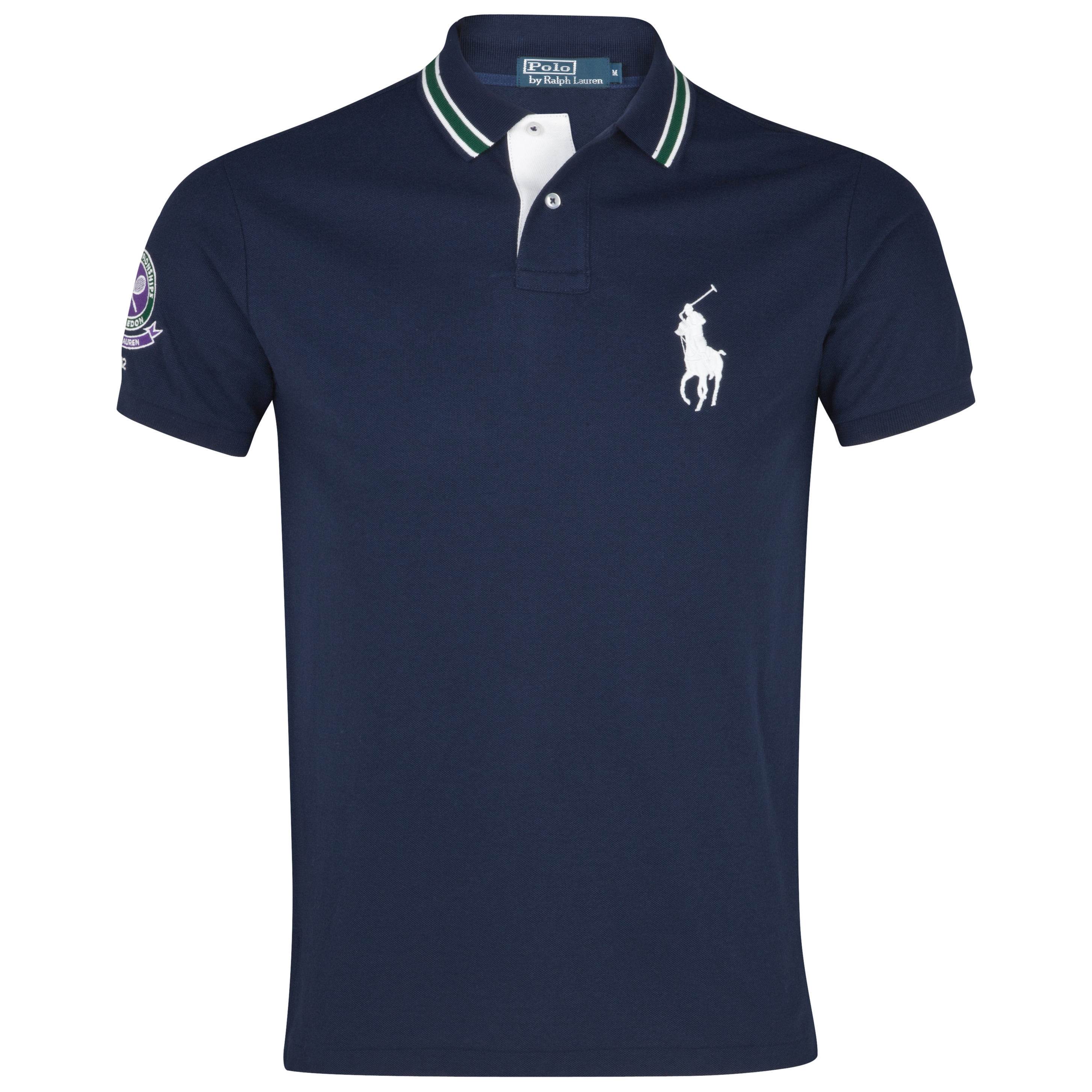 Polo Ralph Lauren Wimbledon Ball Boy Cotton Pique Polo - French Navy - Infant Girls
