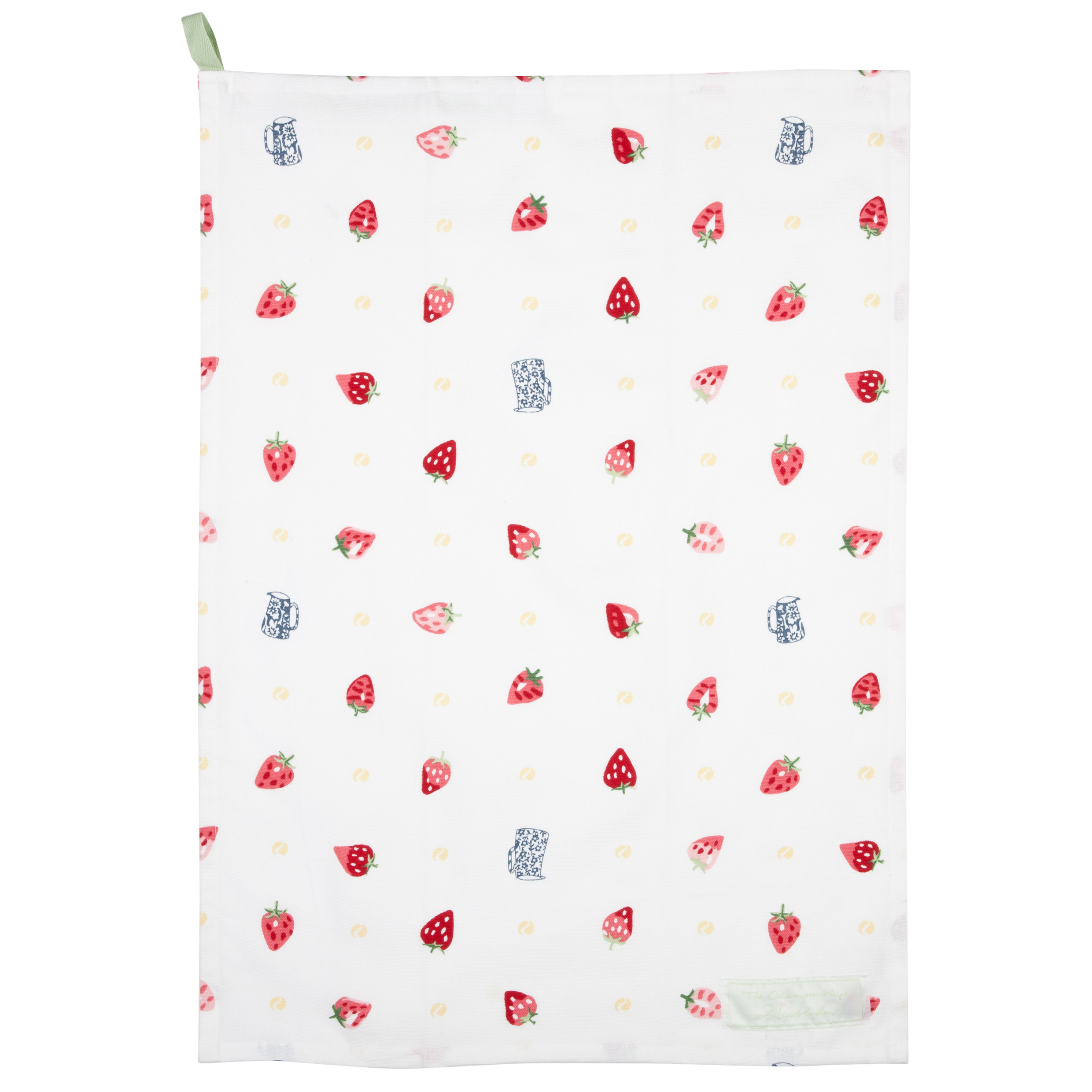 Wimbledon Strawberries and Cream Tea Towel - White