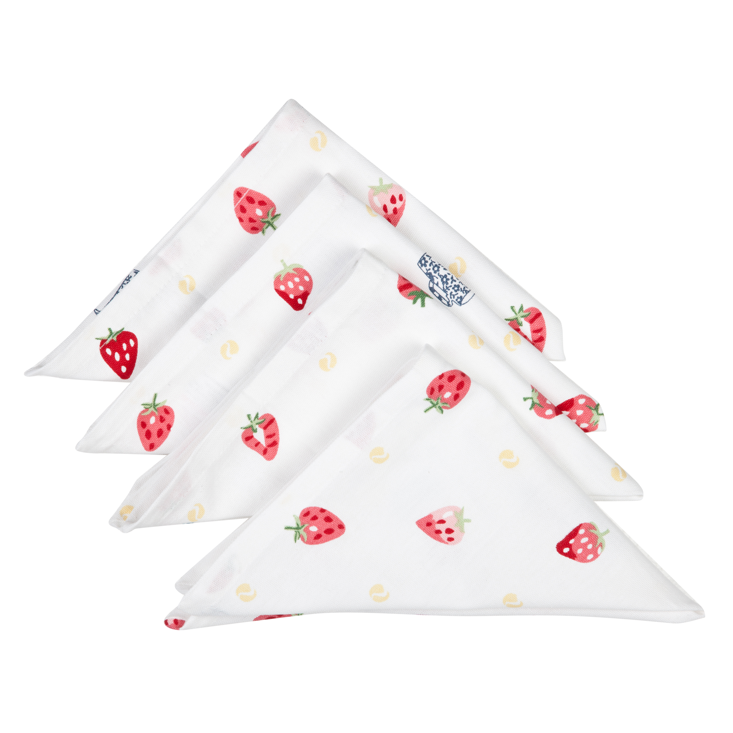 Wimbledon Strawberries and Cream Napkins - Pack of 4 - White