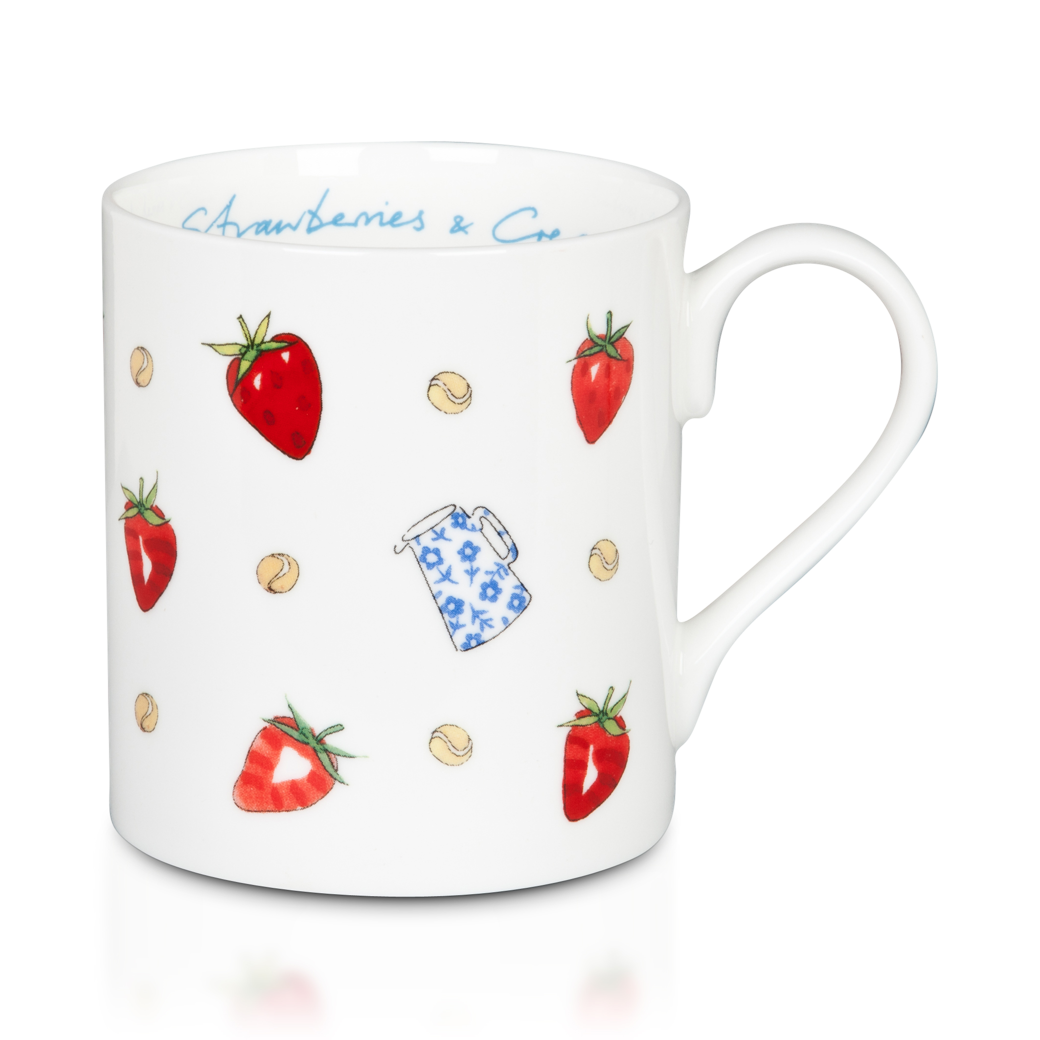 Wimbledon Strawberries and Cream Mug - White