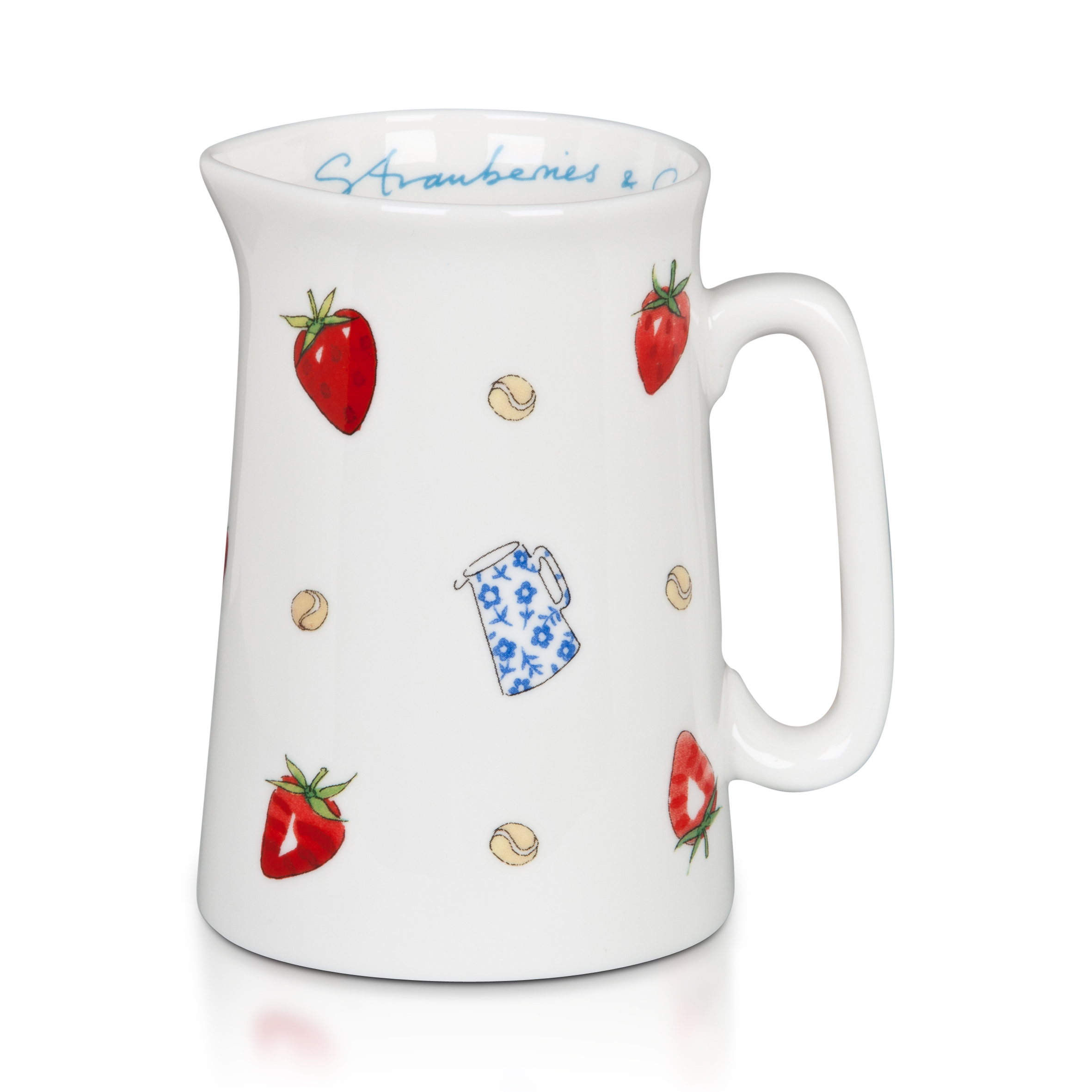 Wimbledon Strawberries and Cream Jug - White