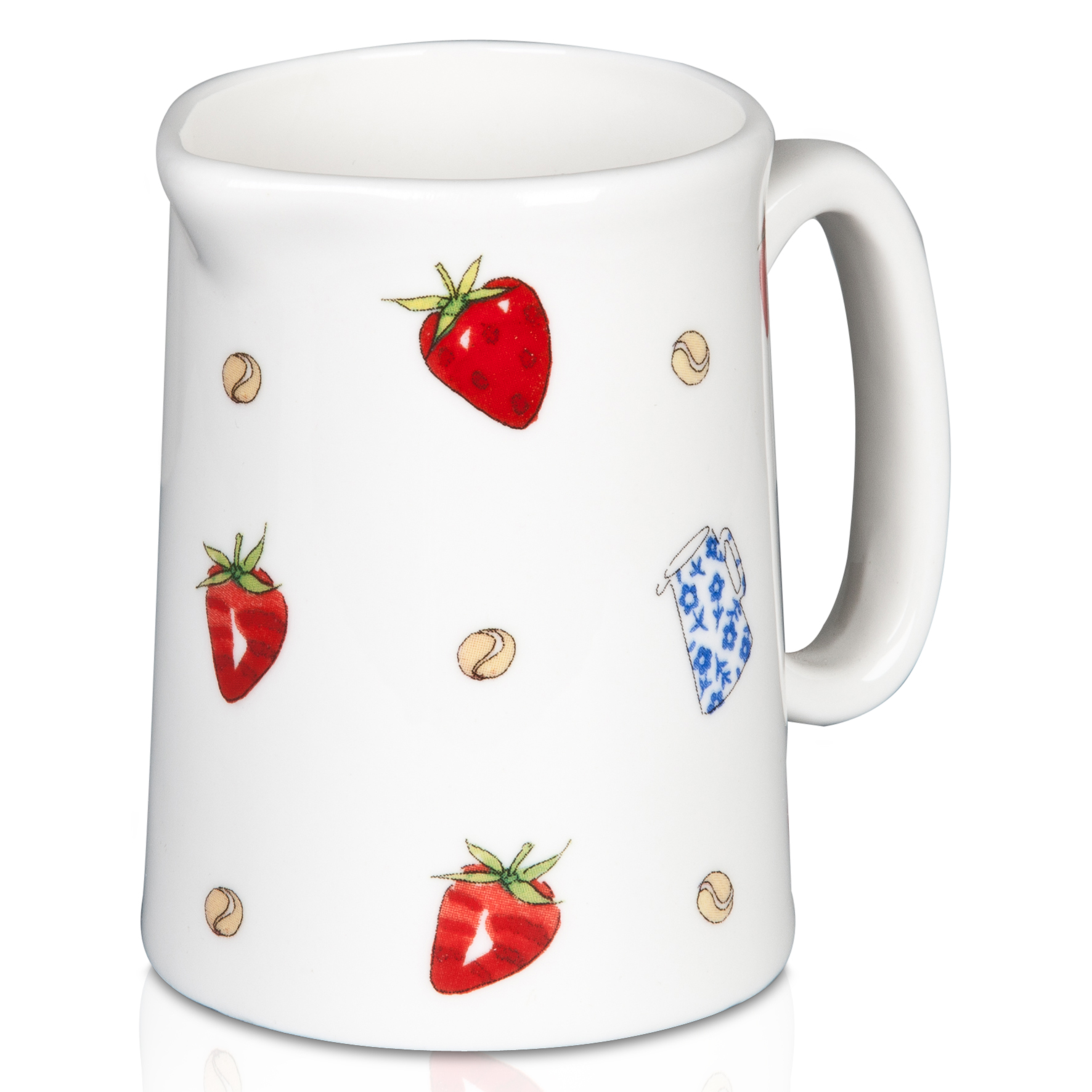 Wimbledon Strawberries and Cream Small Jug - White