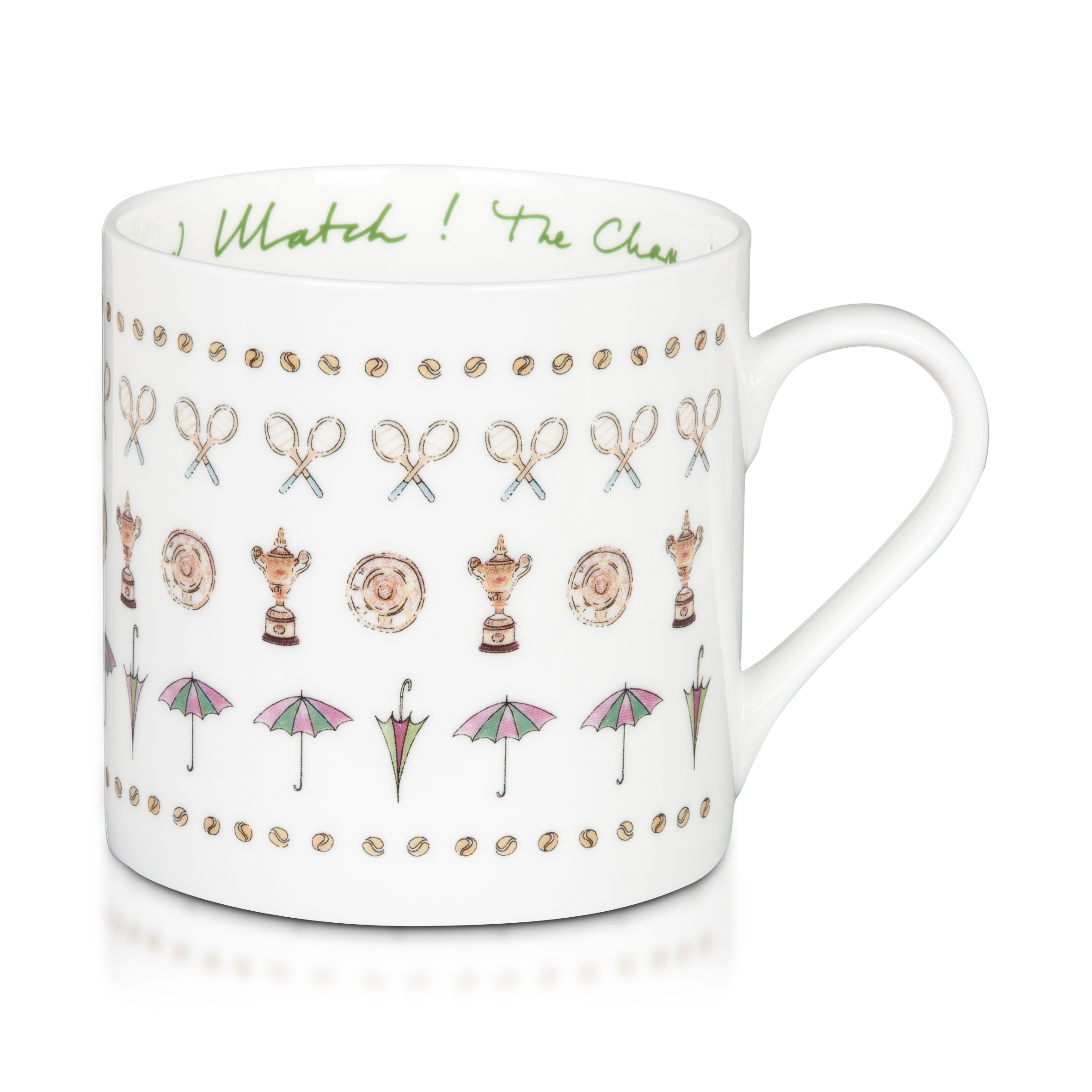 Wimbledon Racket and Umbrella Mug