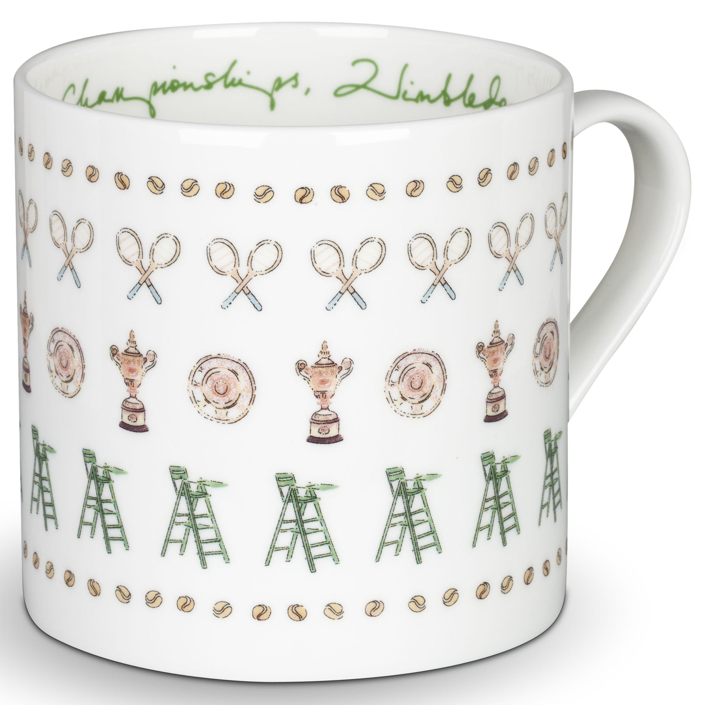 Wimbledon Racket and Umpire Mug