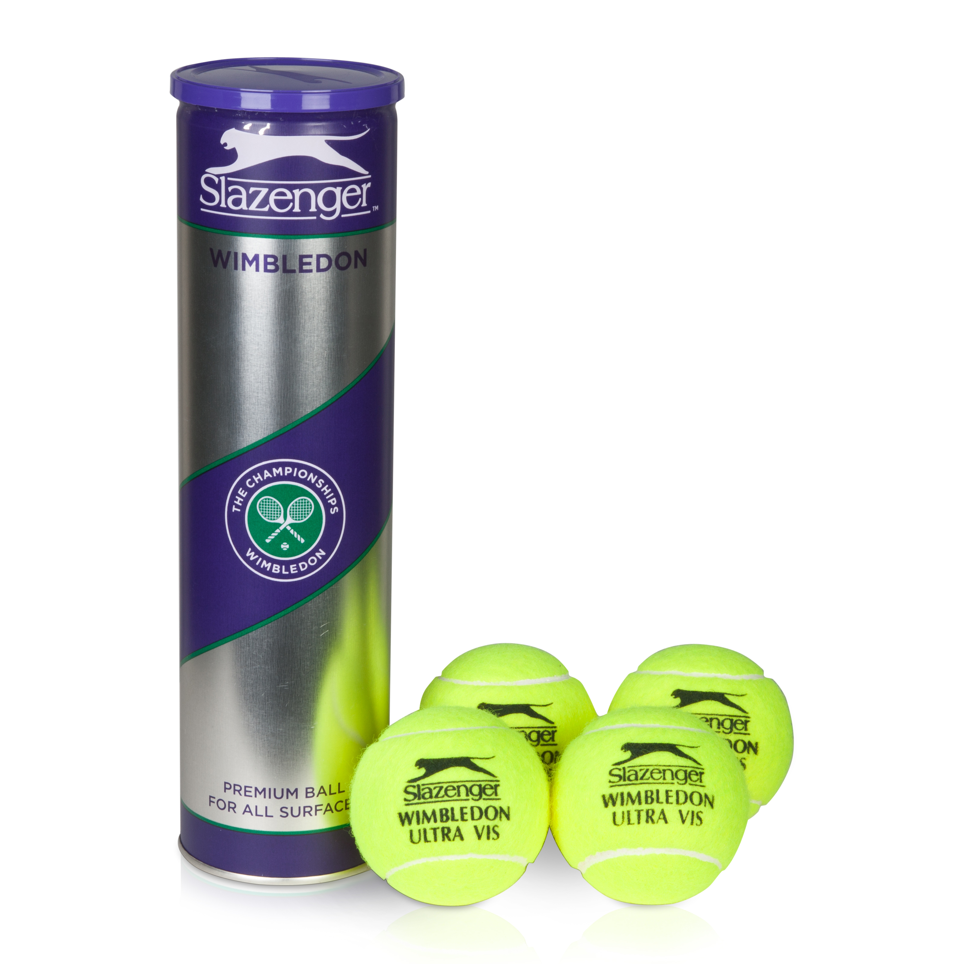 Wimbledon Ultra-Vis Hydra Tennis Ball - 4 Pack