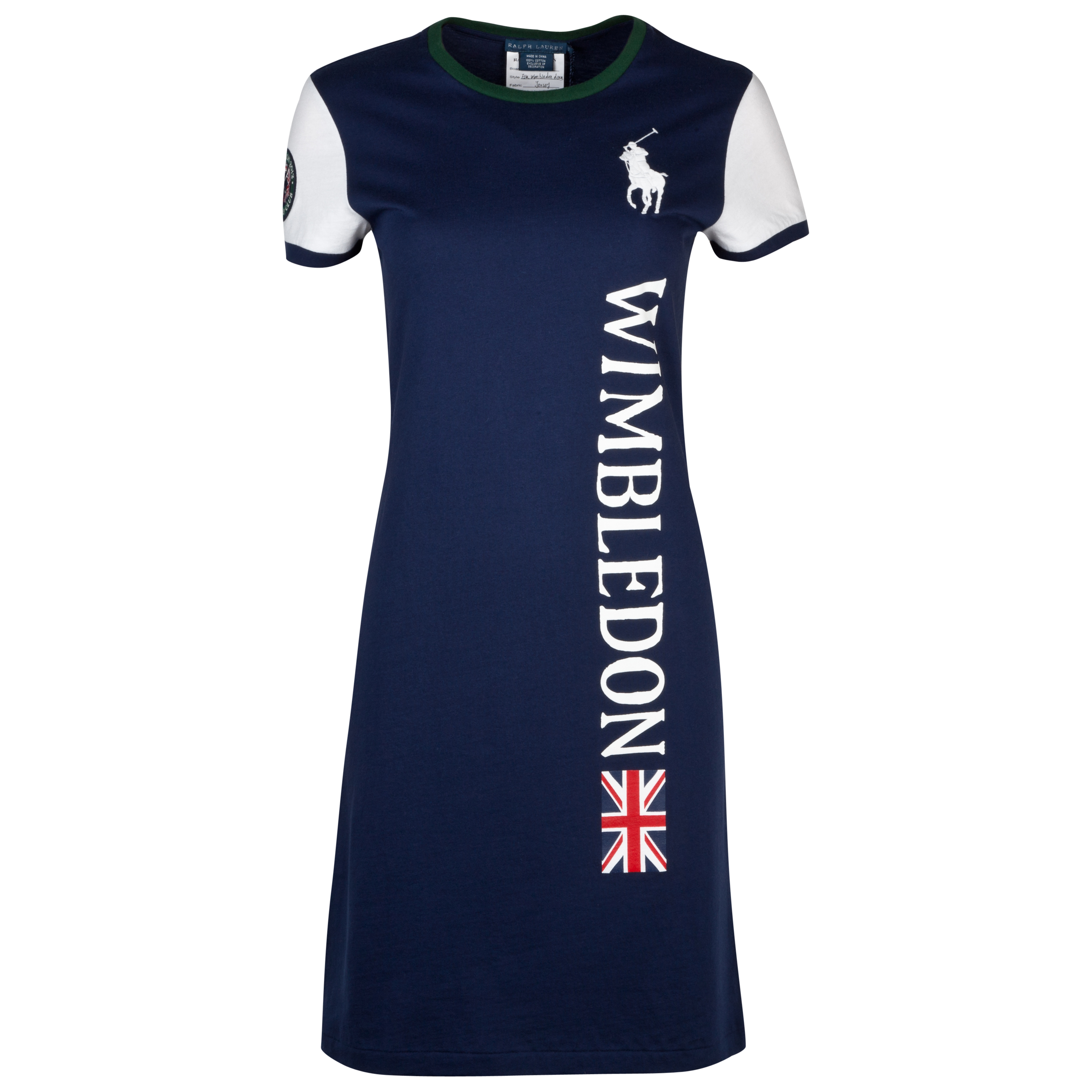 Polo Ralph Lauren Polo Ella Vertical T-Shirt Dress - French Navy - Womens