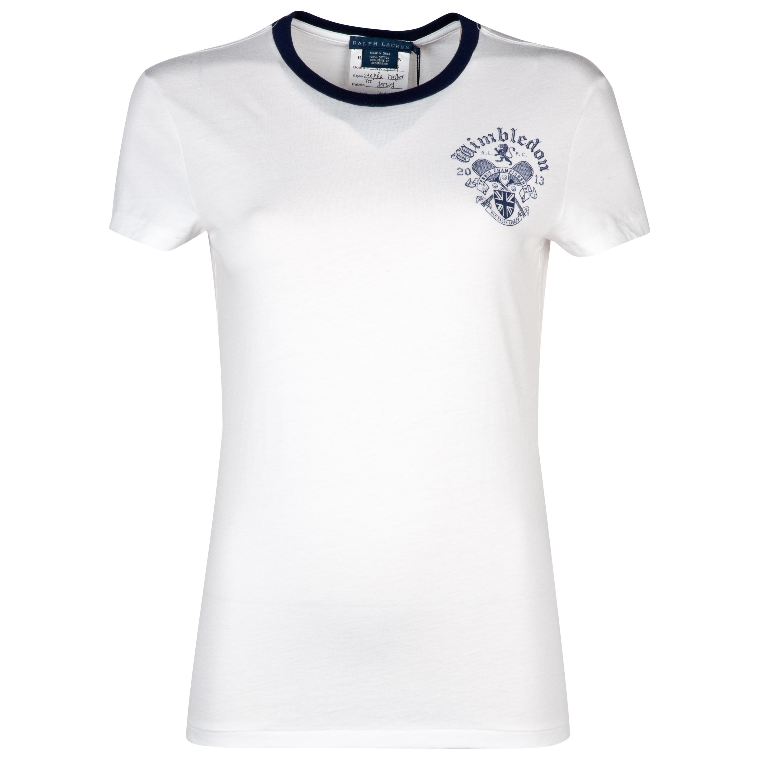 Polo Ralph Lauren Polo Stepha Ringer T-shirt - Classic Oxford White - Womens