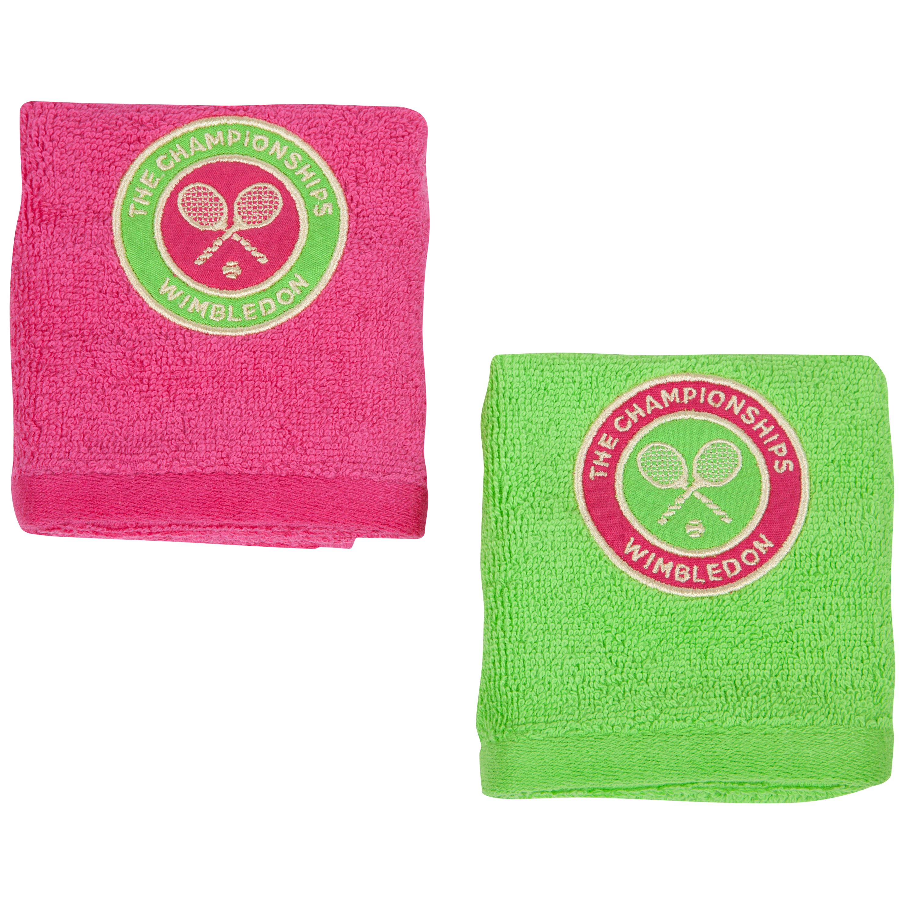 Wimbledon Ladies Face Cloth Double Pack - Berry/Apple