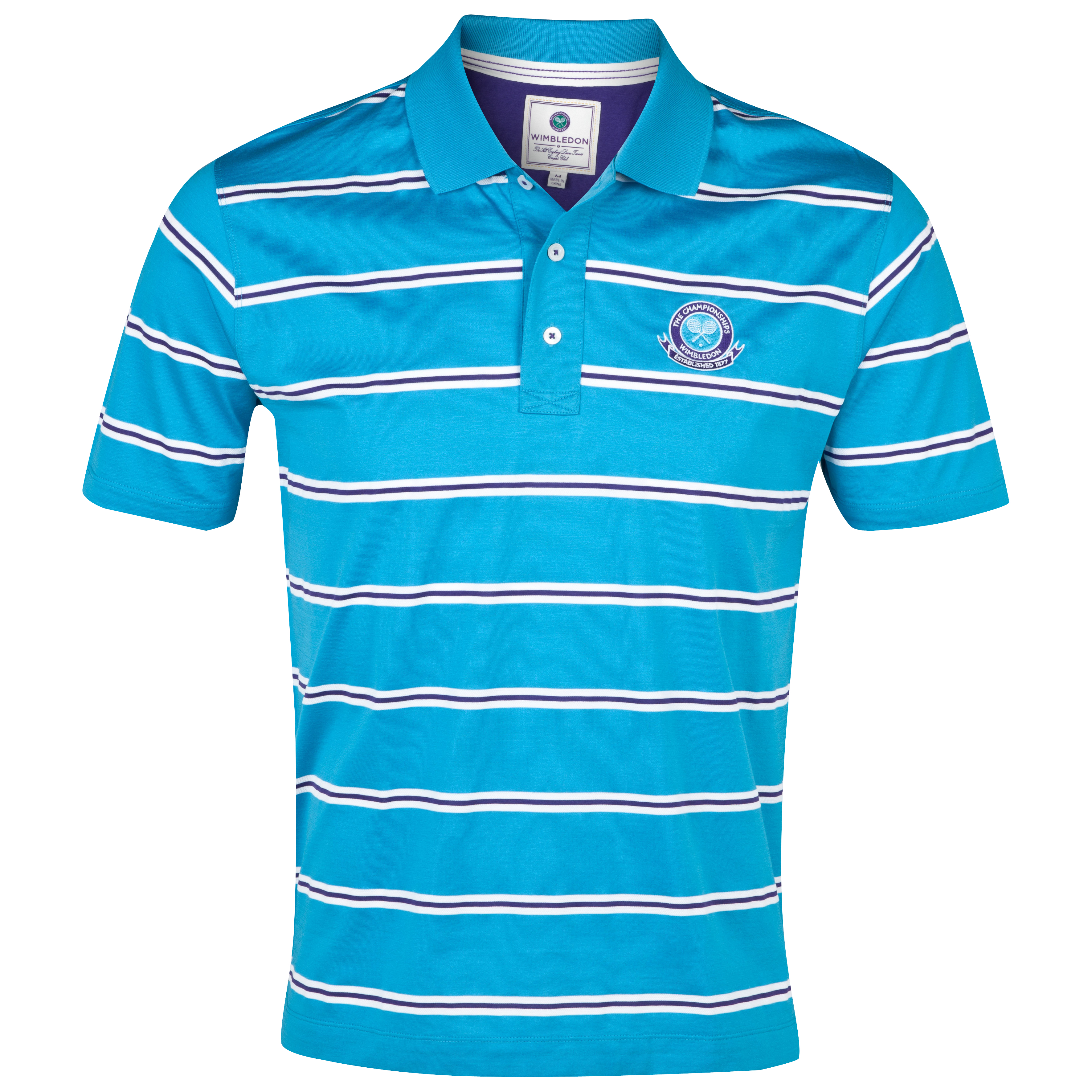 Wimbledon Mercerised Polo Shirt - Sea Blue