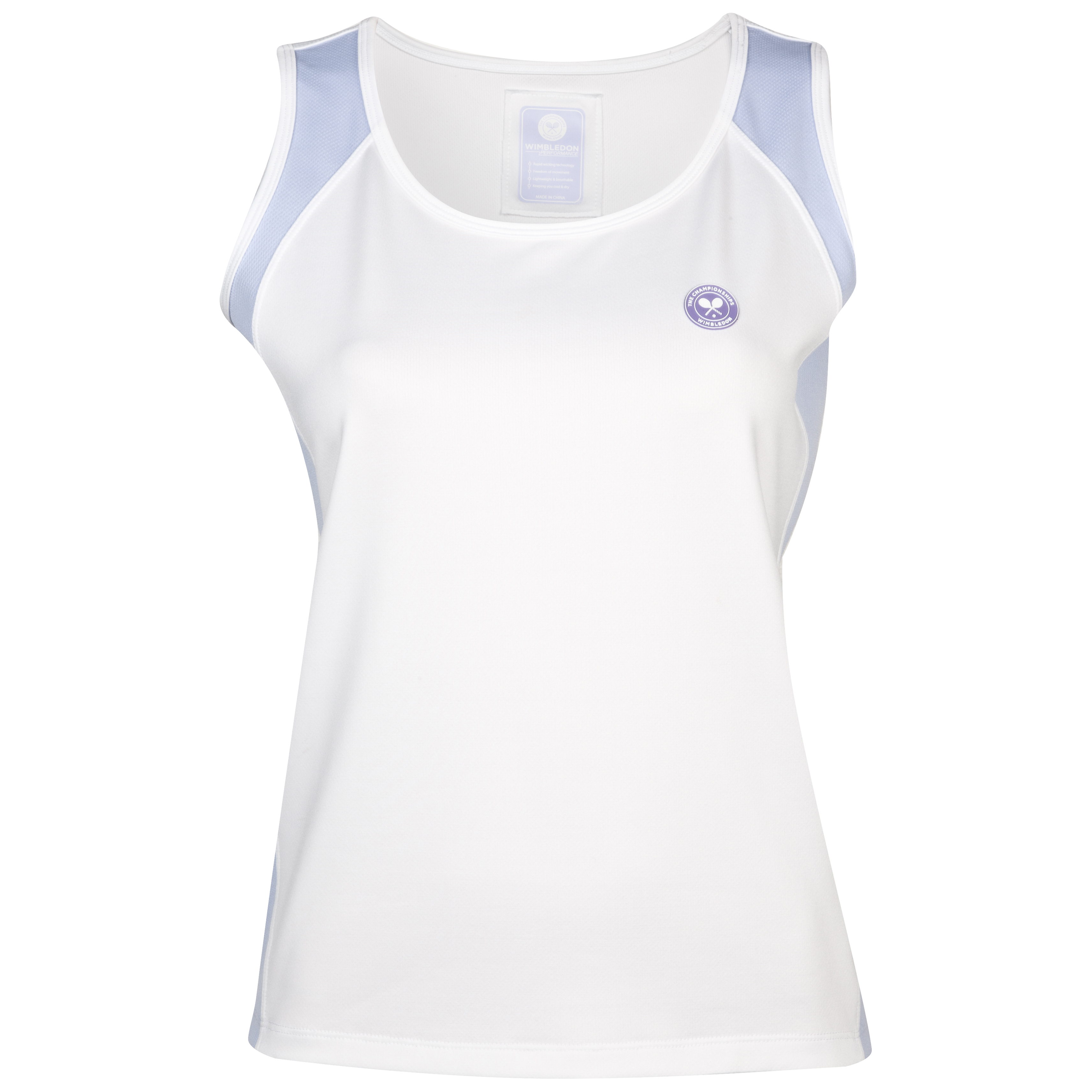 Wimbledon Sleeveless Top - Ladies - White