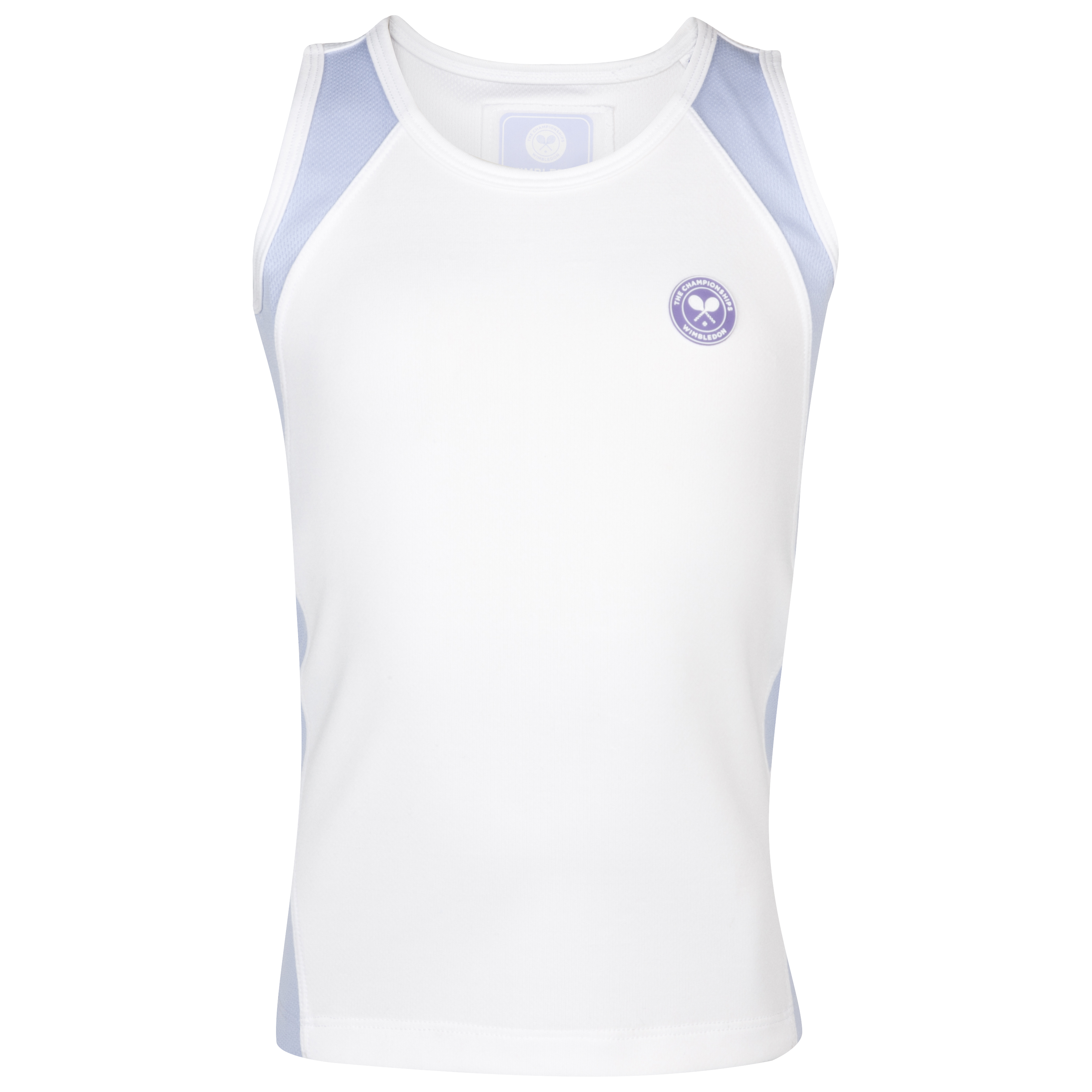 Wimbledon Sleeveless Top - Girls - White