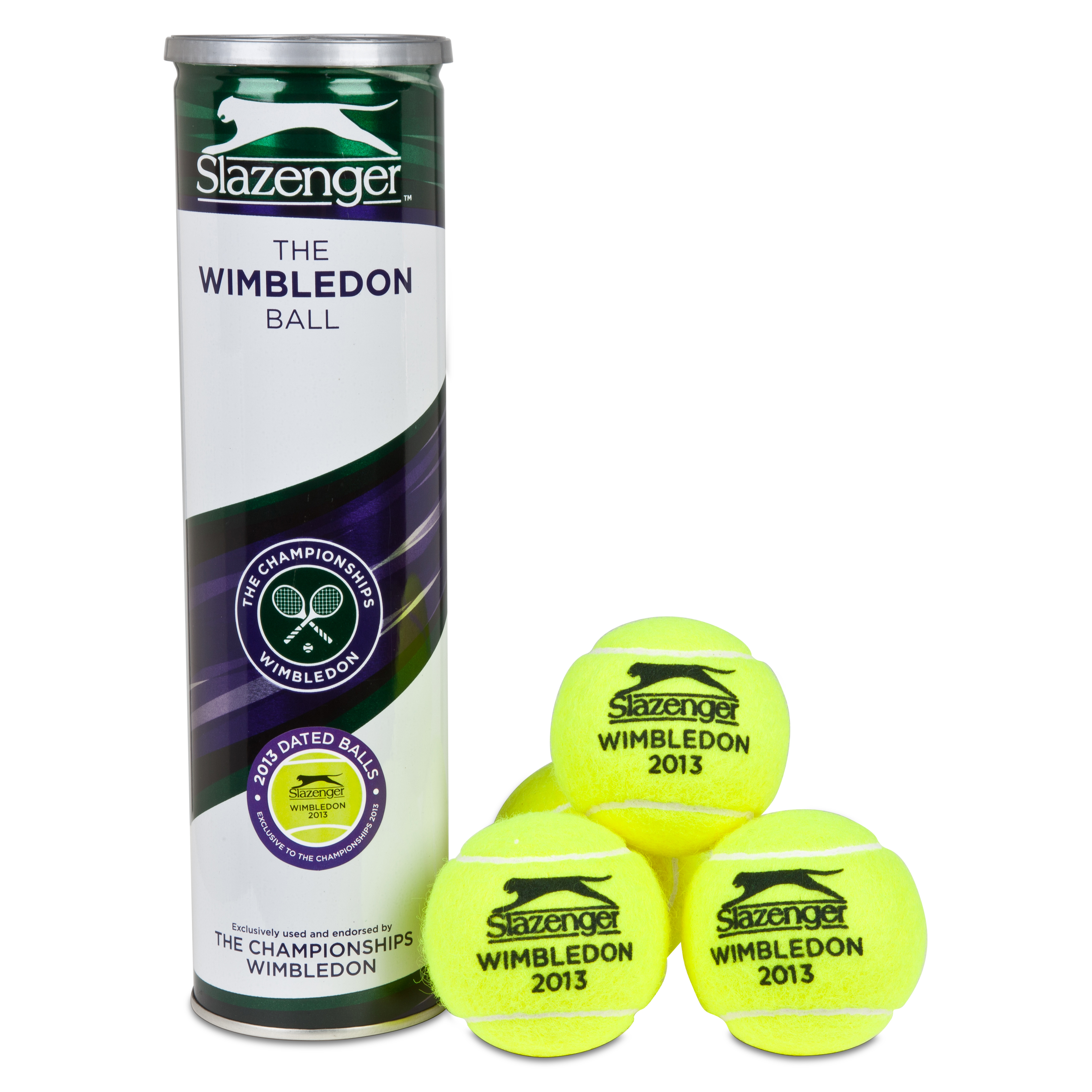 Wimbledon 2013 Slazenger Tennis Ball - 4 Pack
