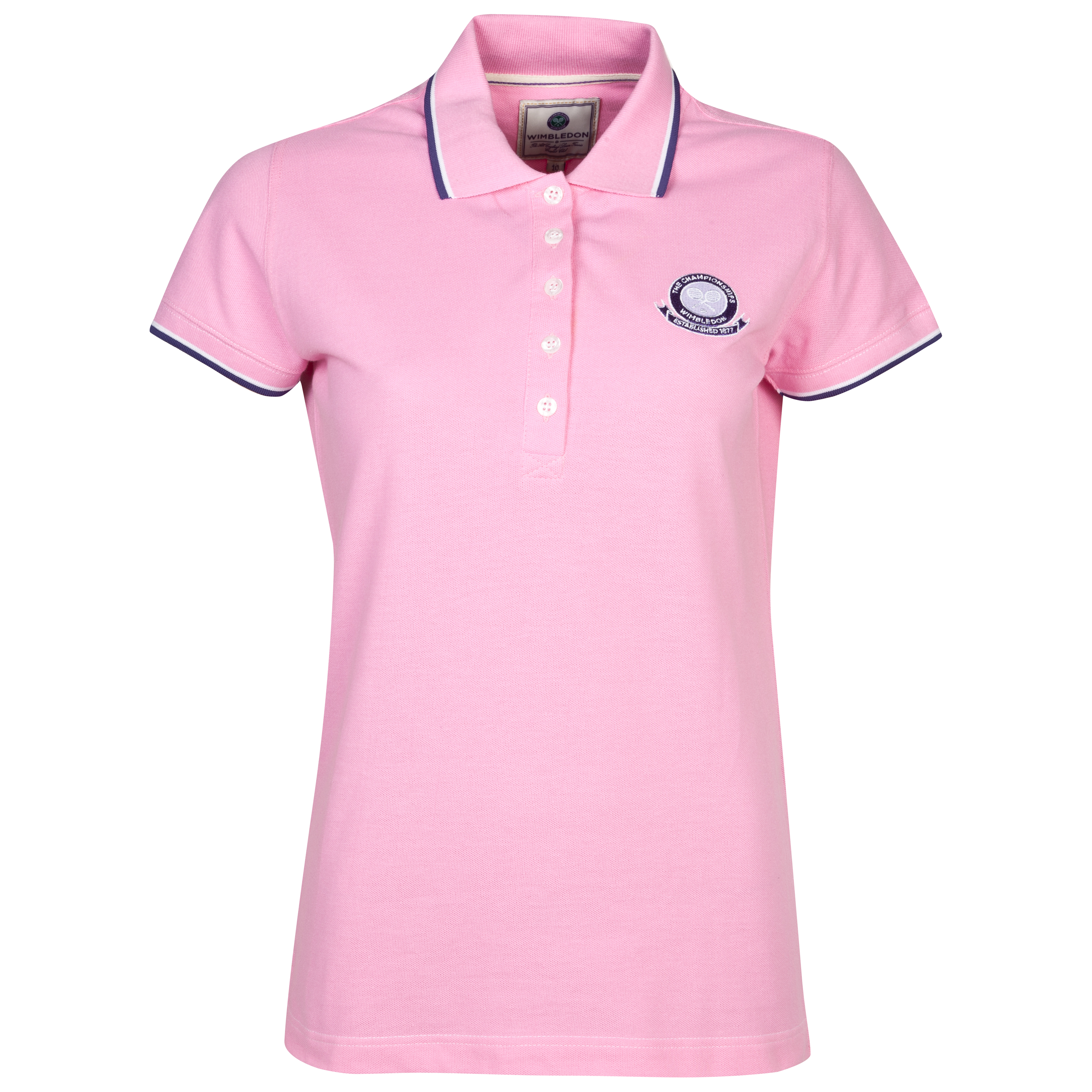 Wimbledon Pique Polo Shirt - Ladies - Light Pink