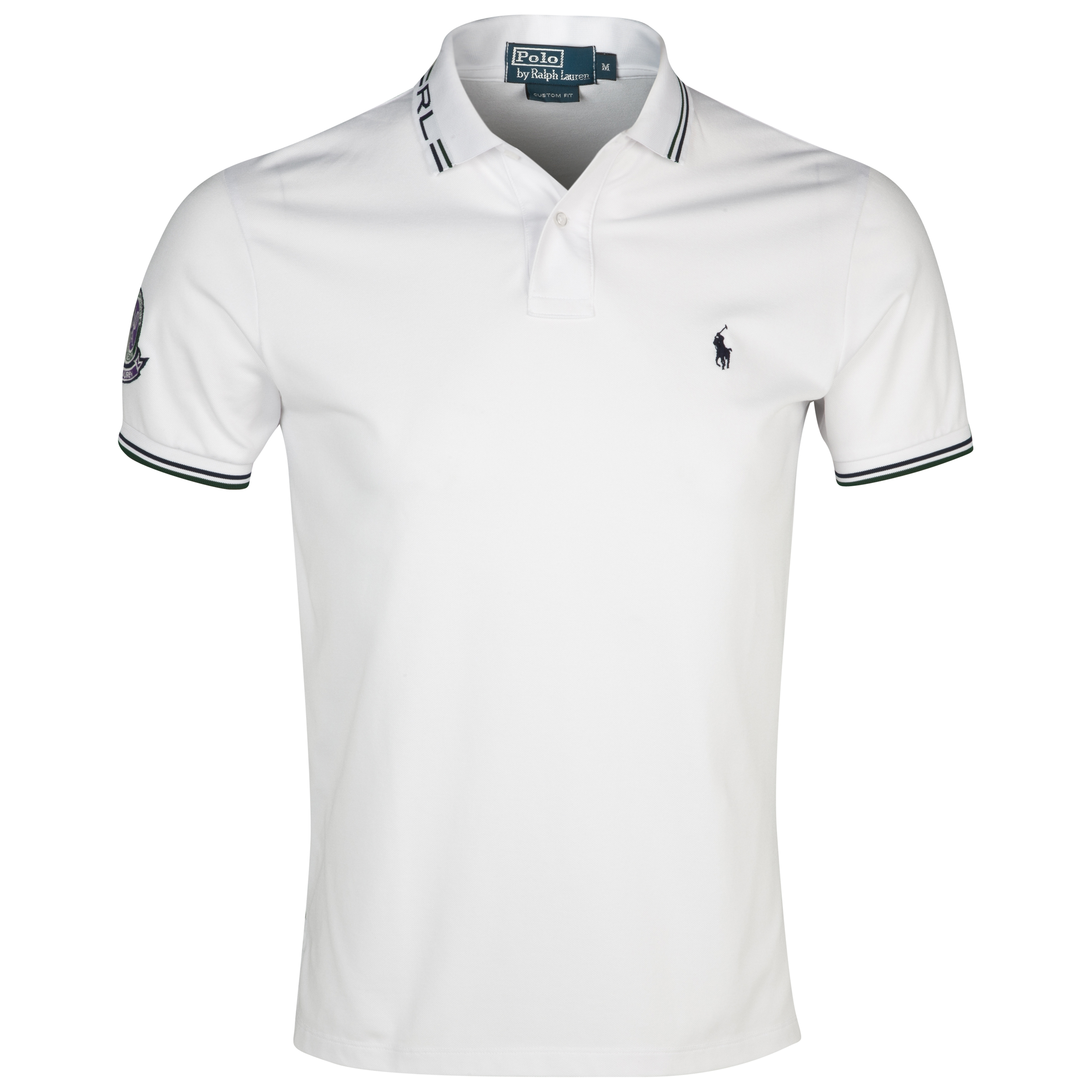 Wimbledon Polo Ralph Lauren Wimbledon Custom Fit Tech Polo White