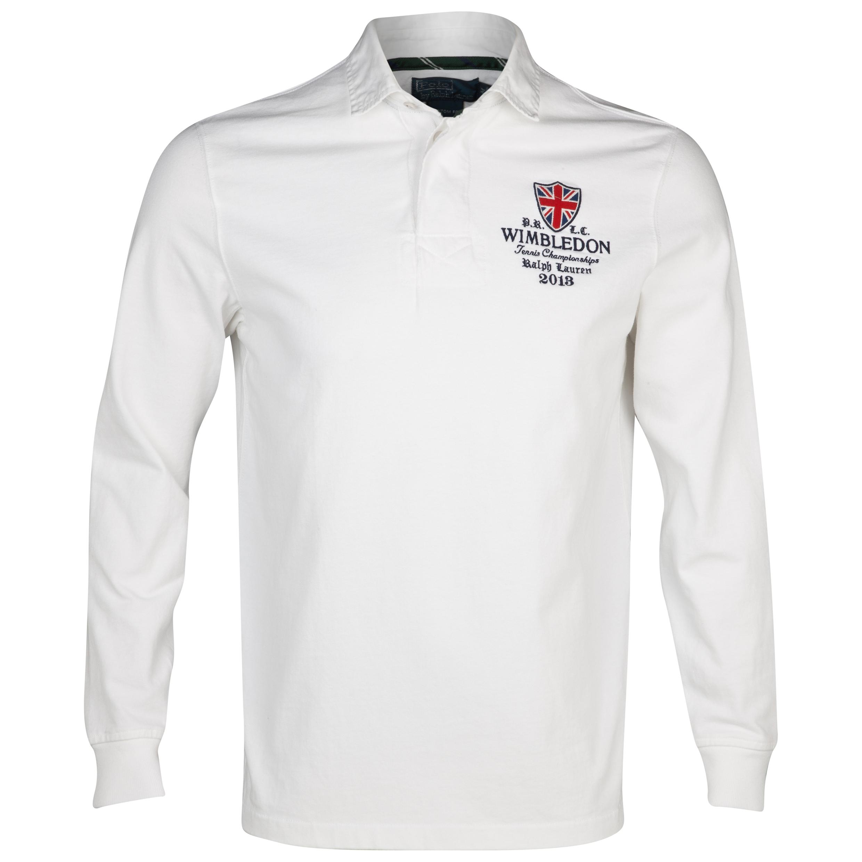 Wimbledon Polo Ralph Lauren Wimbledon Custom Fit Varsity Jersey White