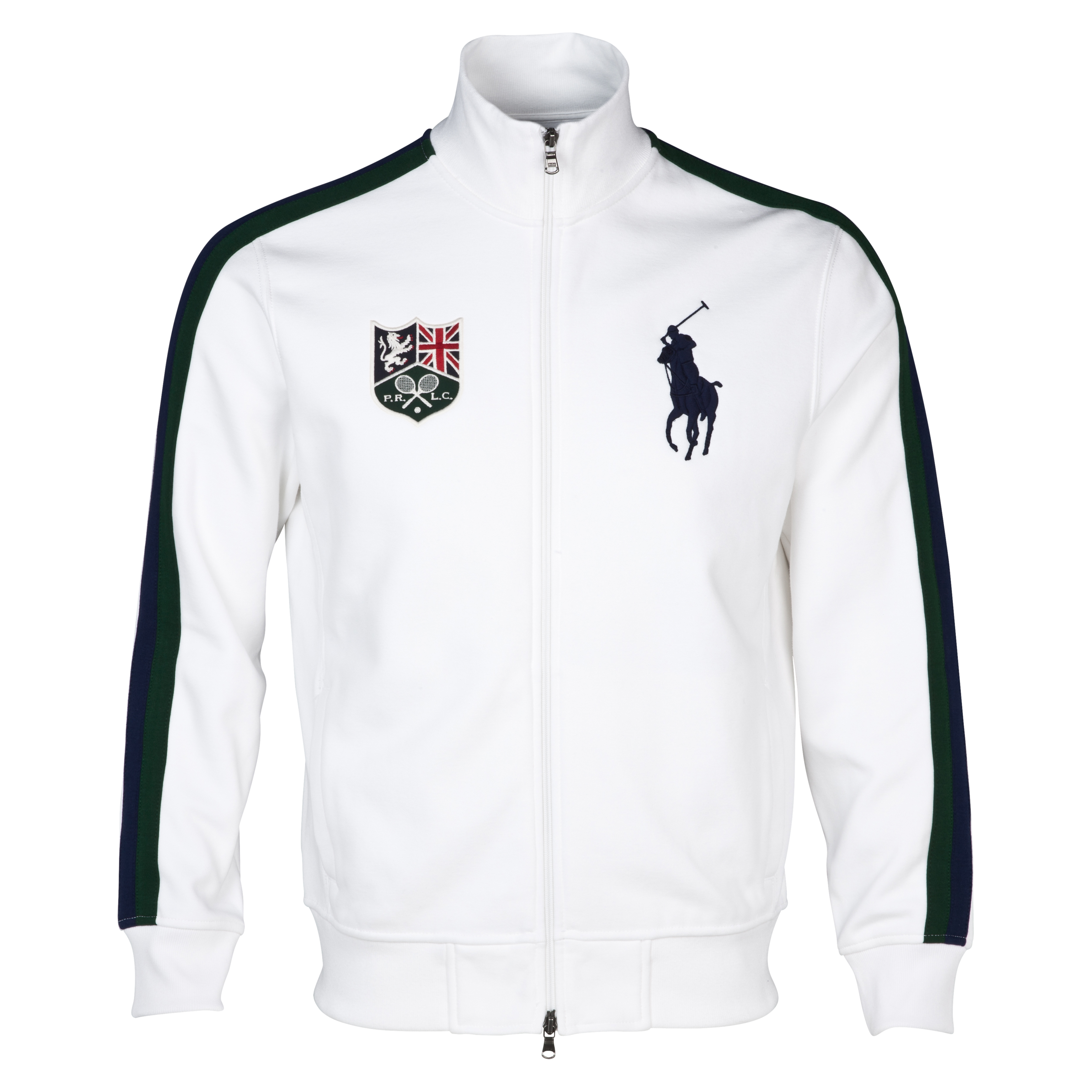 Wimbledon Polo Ralph Lauren Wimbledon Trainer Fleece Jacket White