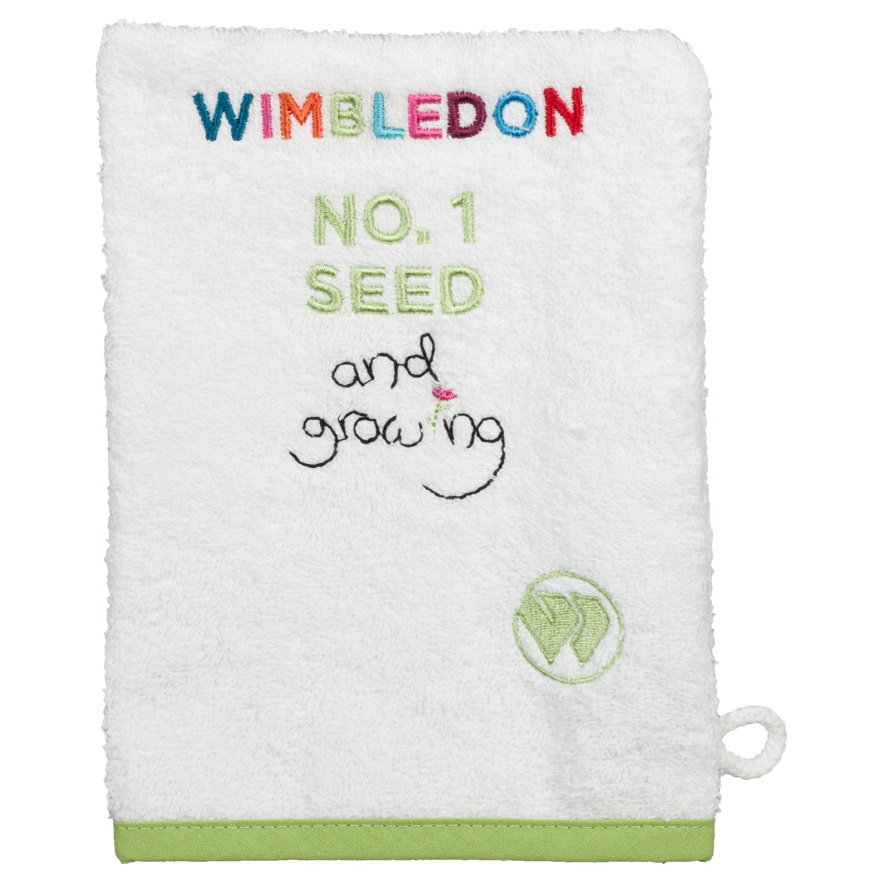 Wimbledon Kids Wash Mitt White