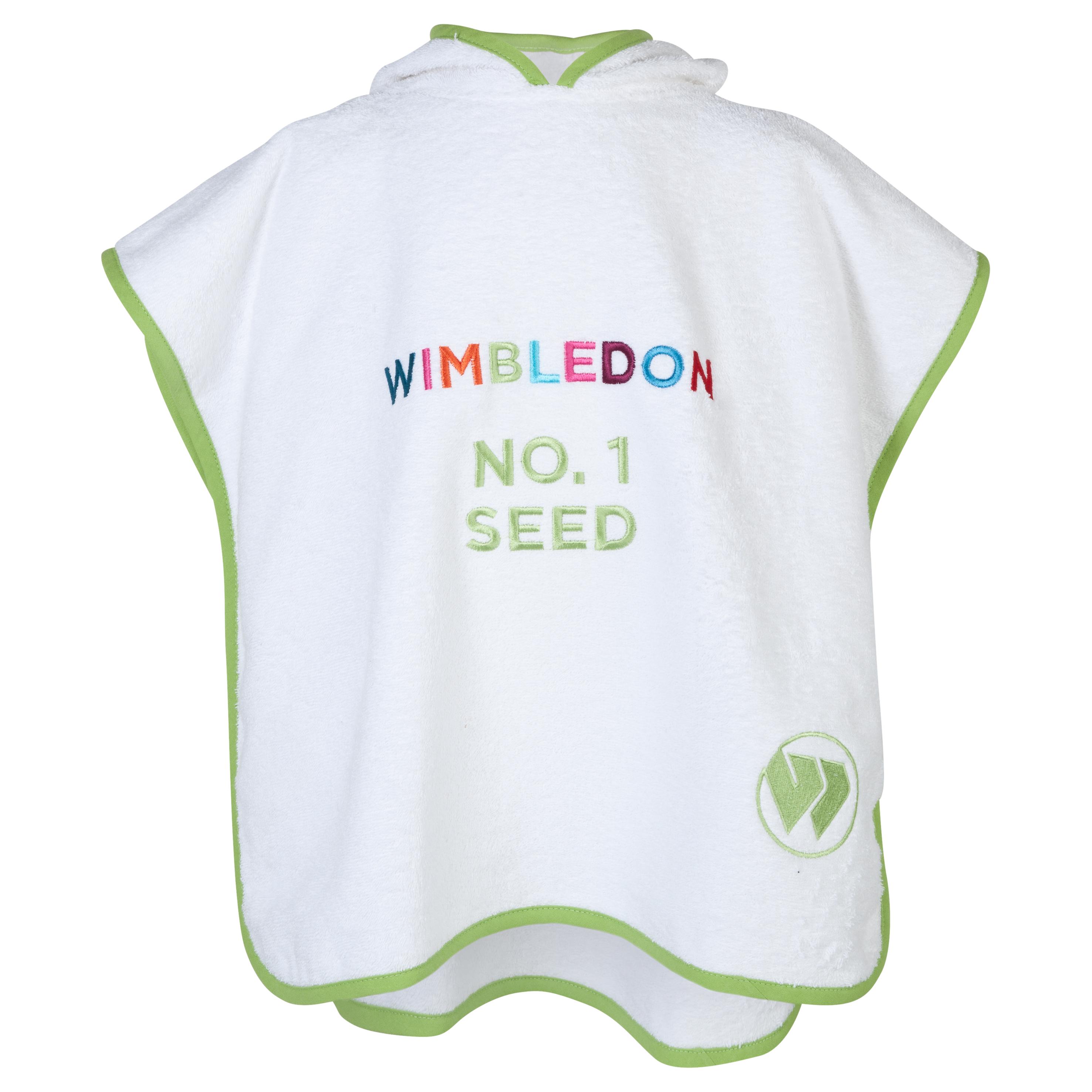 Wimbledon Kids Poncho White