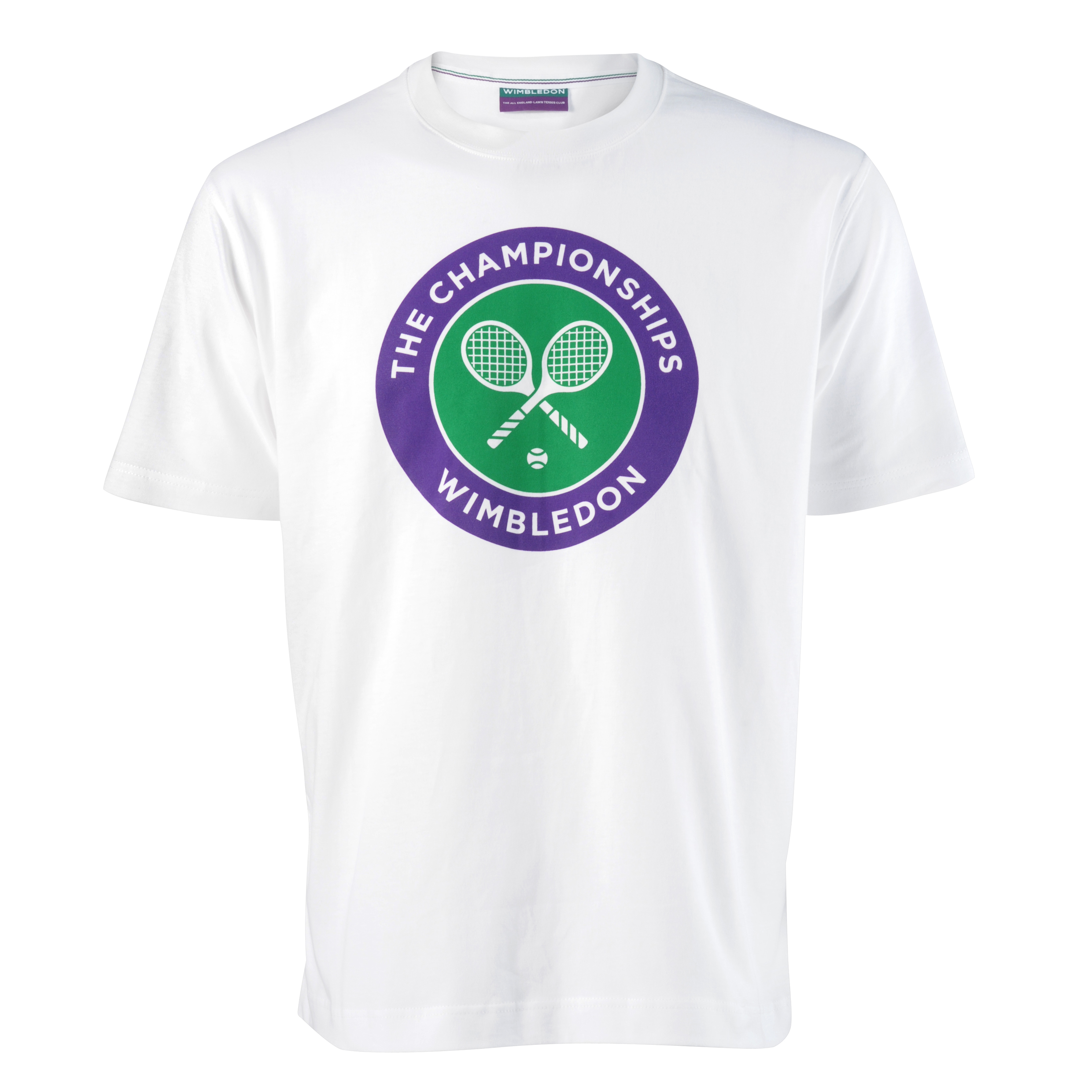 Wimbledon Crossed Rackets Print T-Shirt White