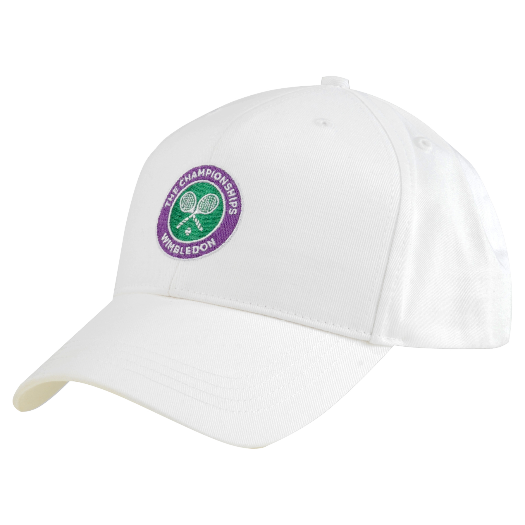 Wimbledon Crossed Rackets Cap White