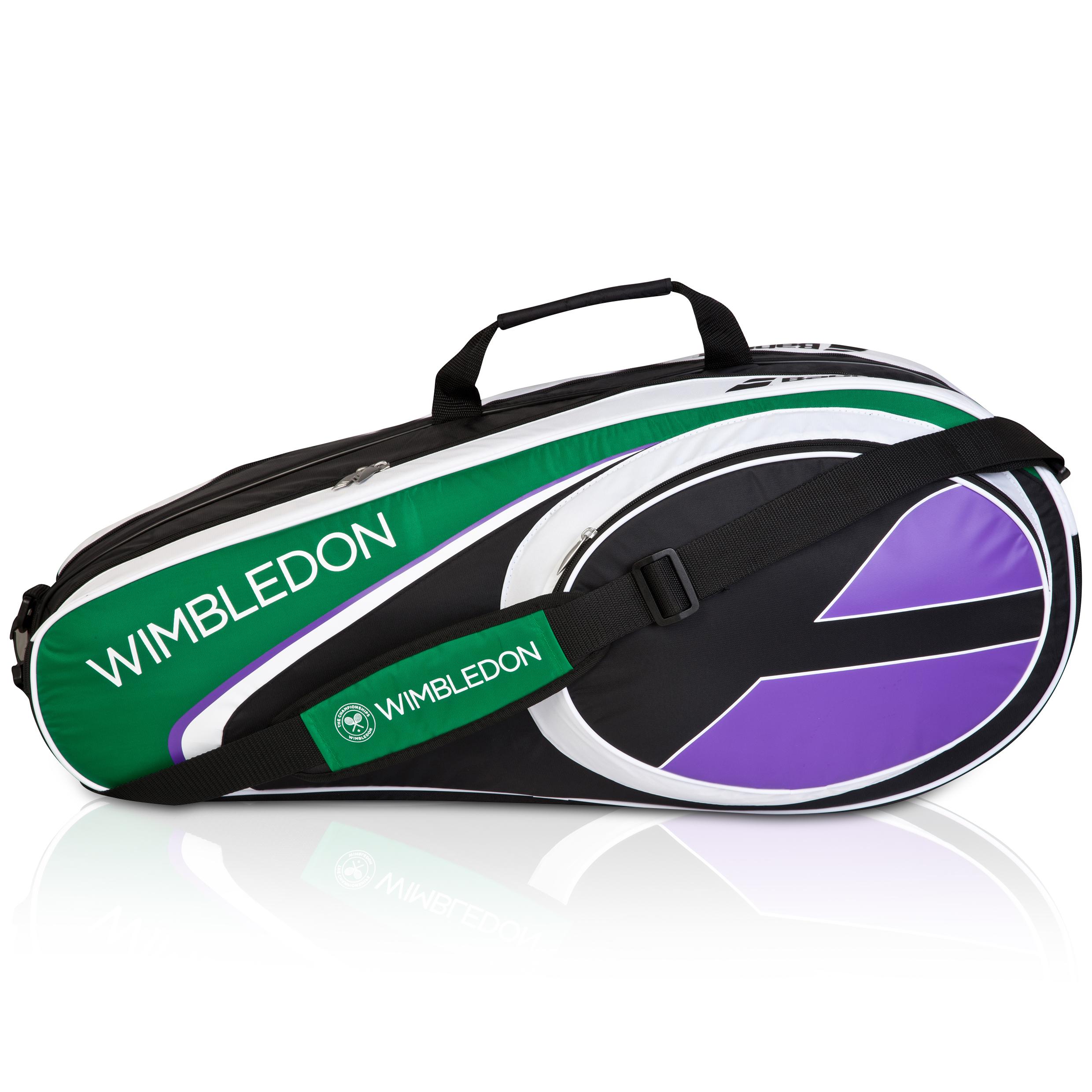 Wimbledon Club x 6 Racket Holder - White/Green White