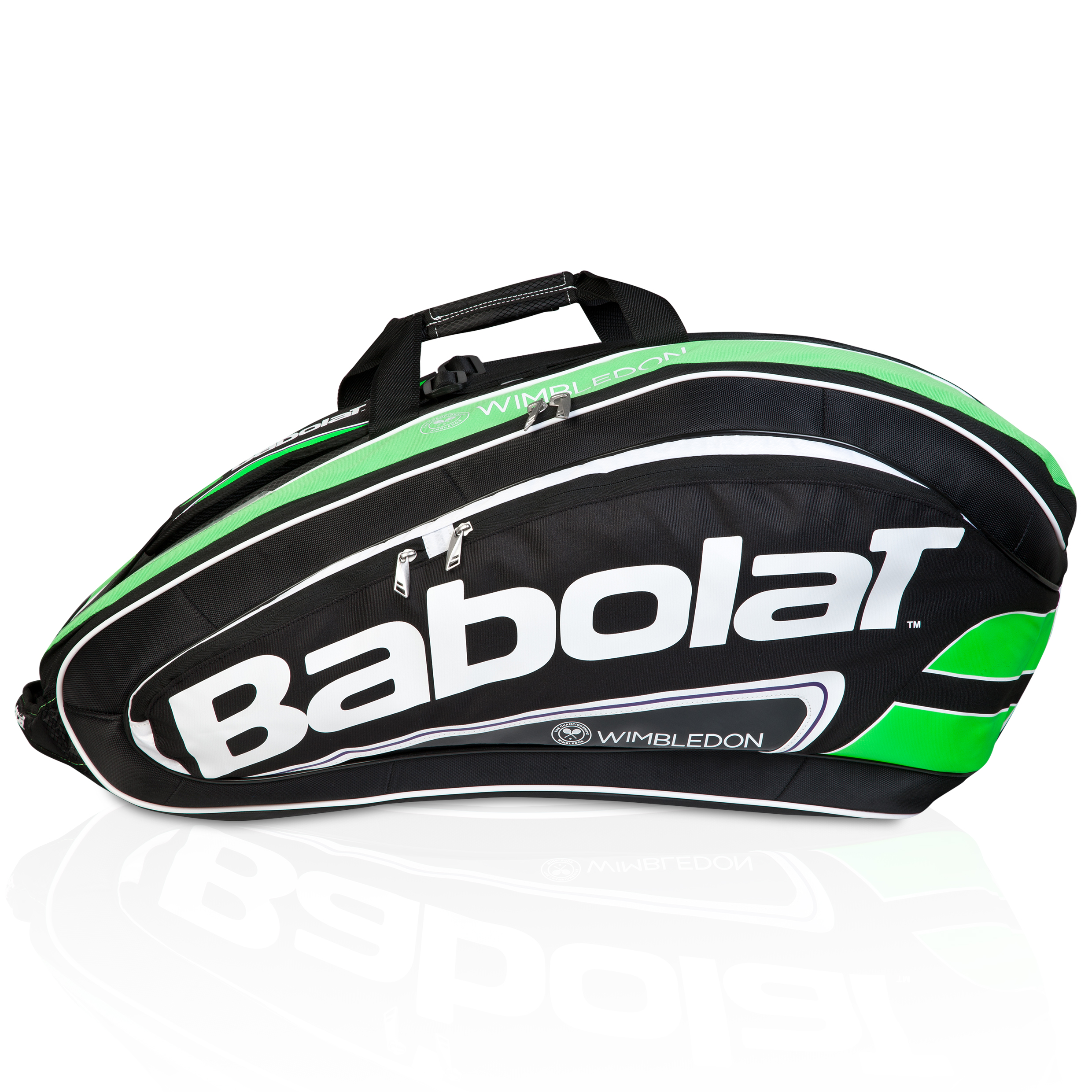 Wimbledon Team x 12 Racket Holder - Black/Green Black