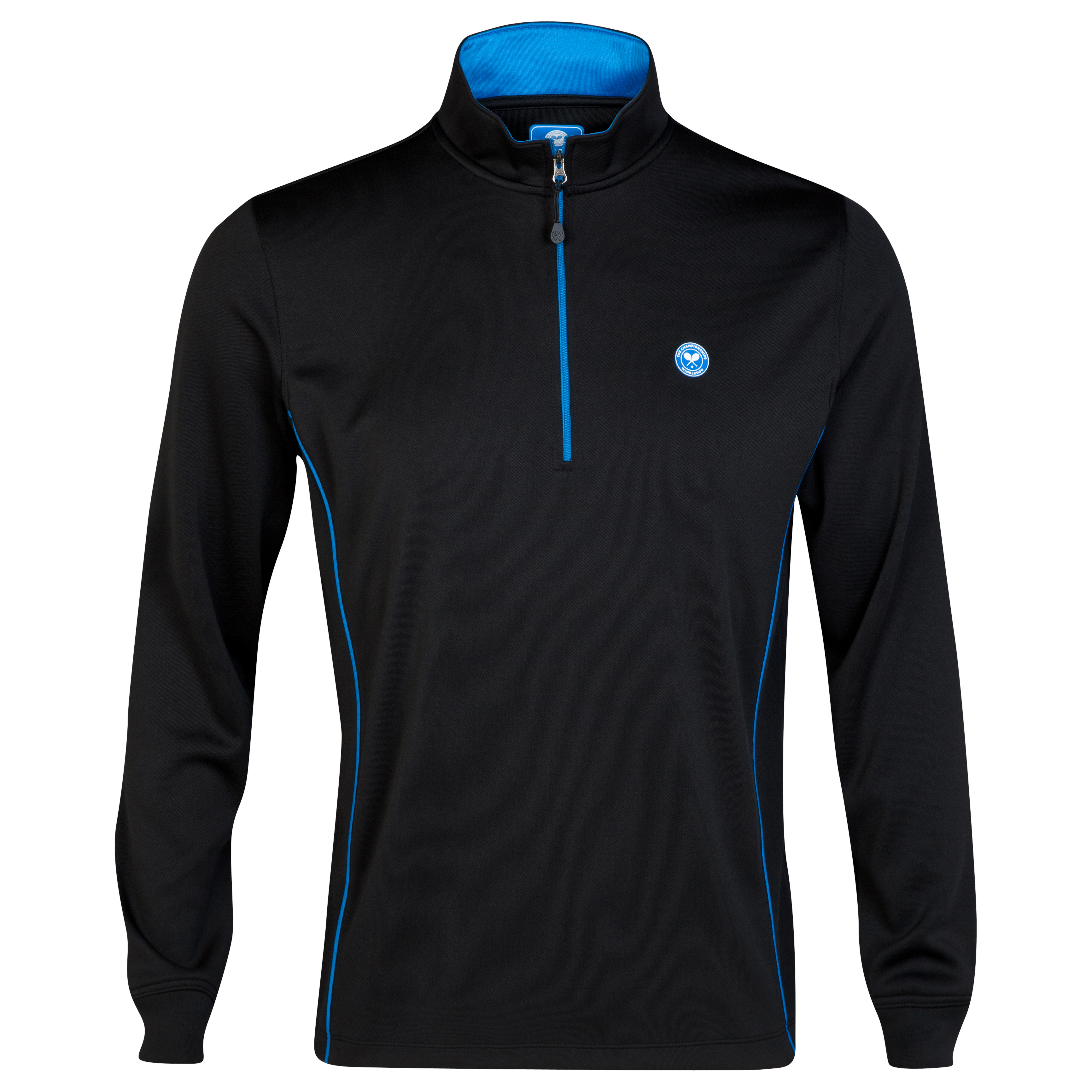 Wimbledon Half Zip Sports Top Black