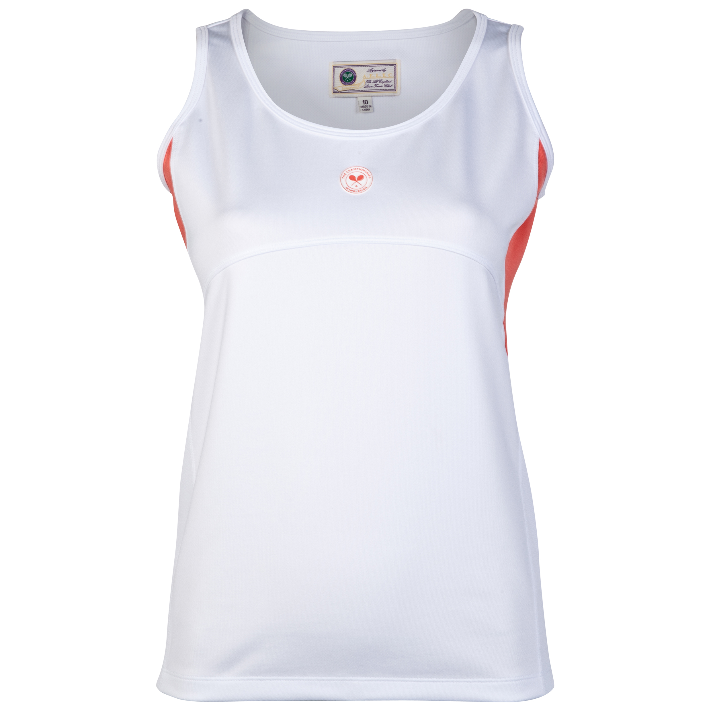 Wimbledon Sleeveless Top - Ladies White