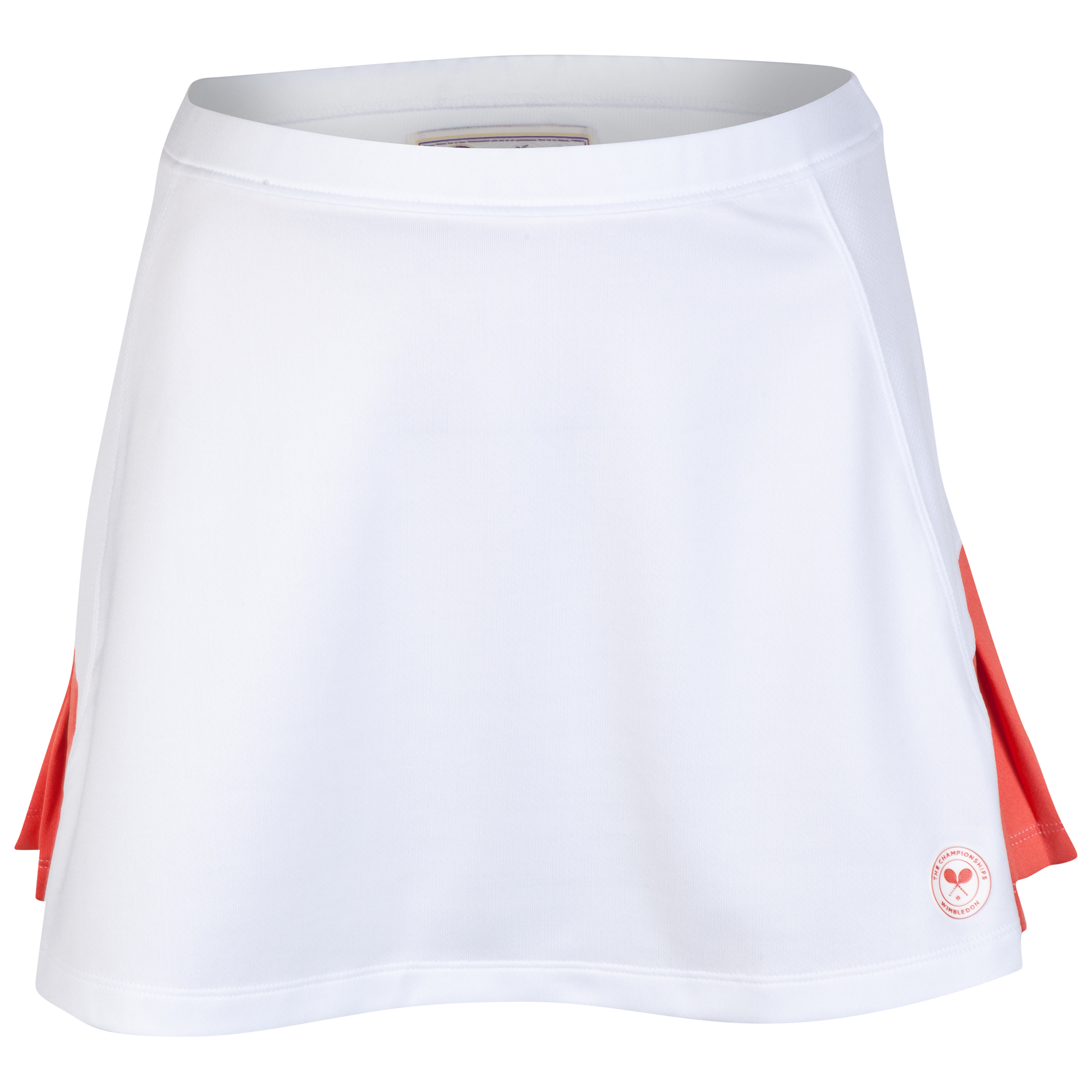 Wimbledon Skirt Pleatred Panels - Ladies White