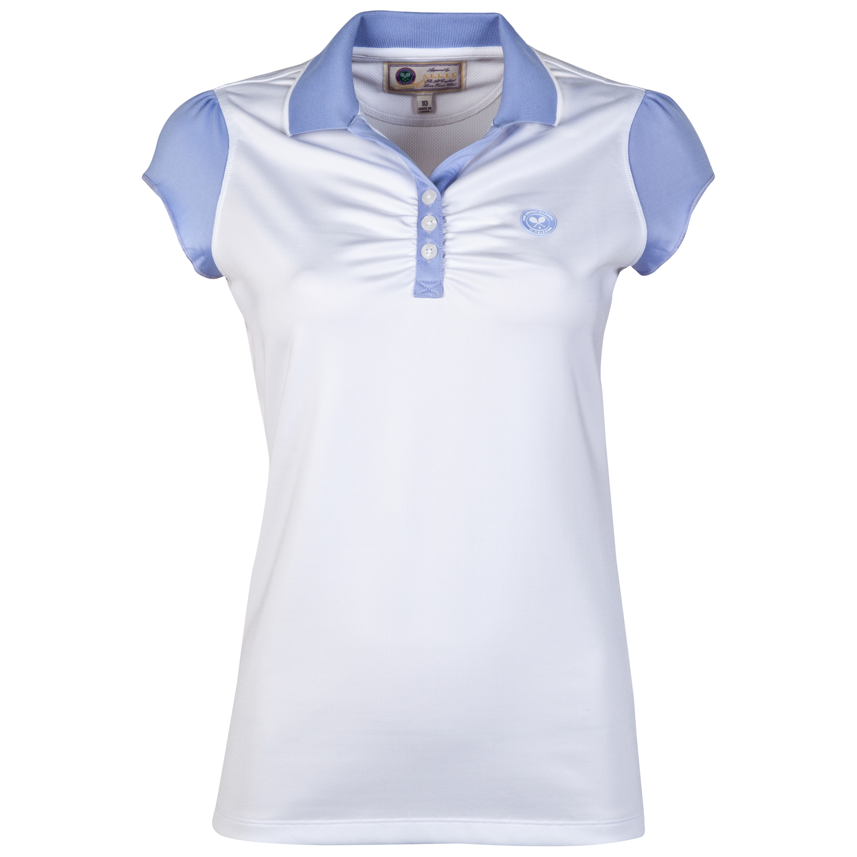 Wimbledon Capped Sleeve Top - Ladies White