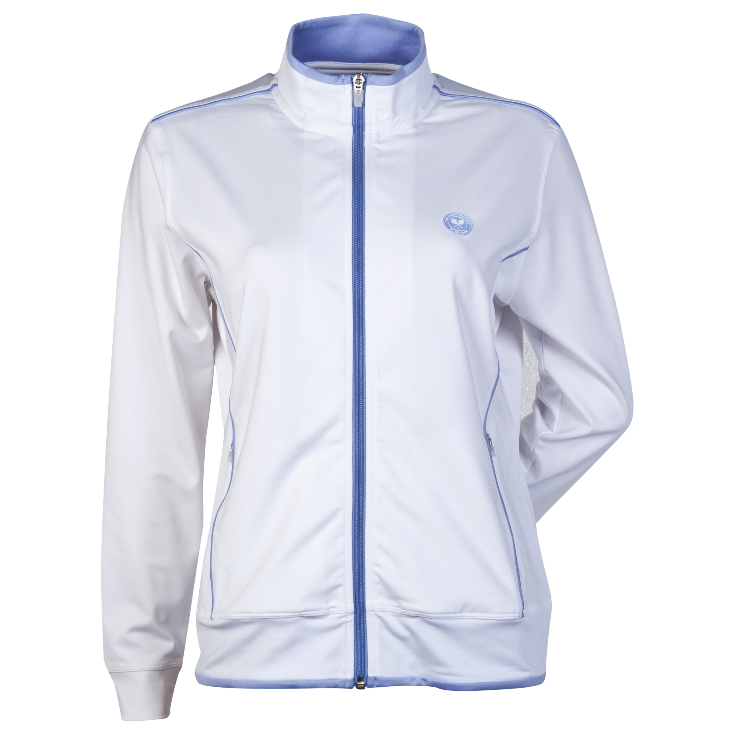 Wimbledon Performance Full Zip - Womens White