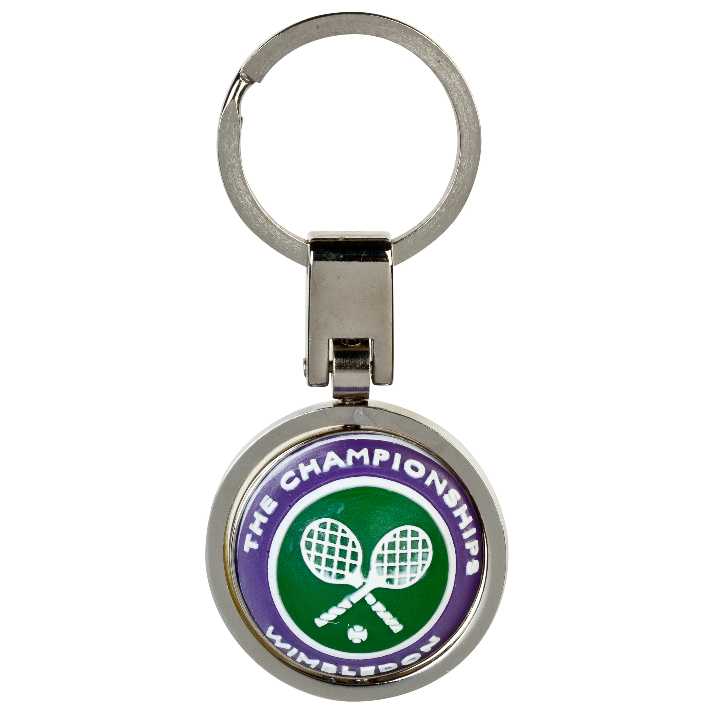 Wimbledon Spinningball Keyring Yellow