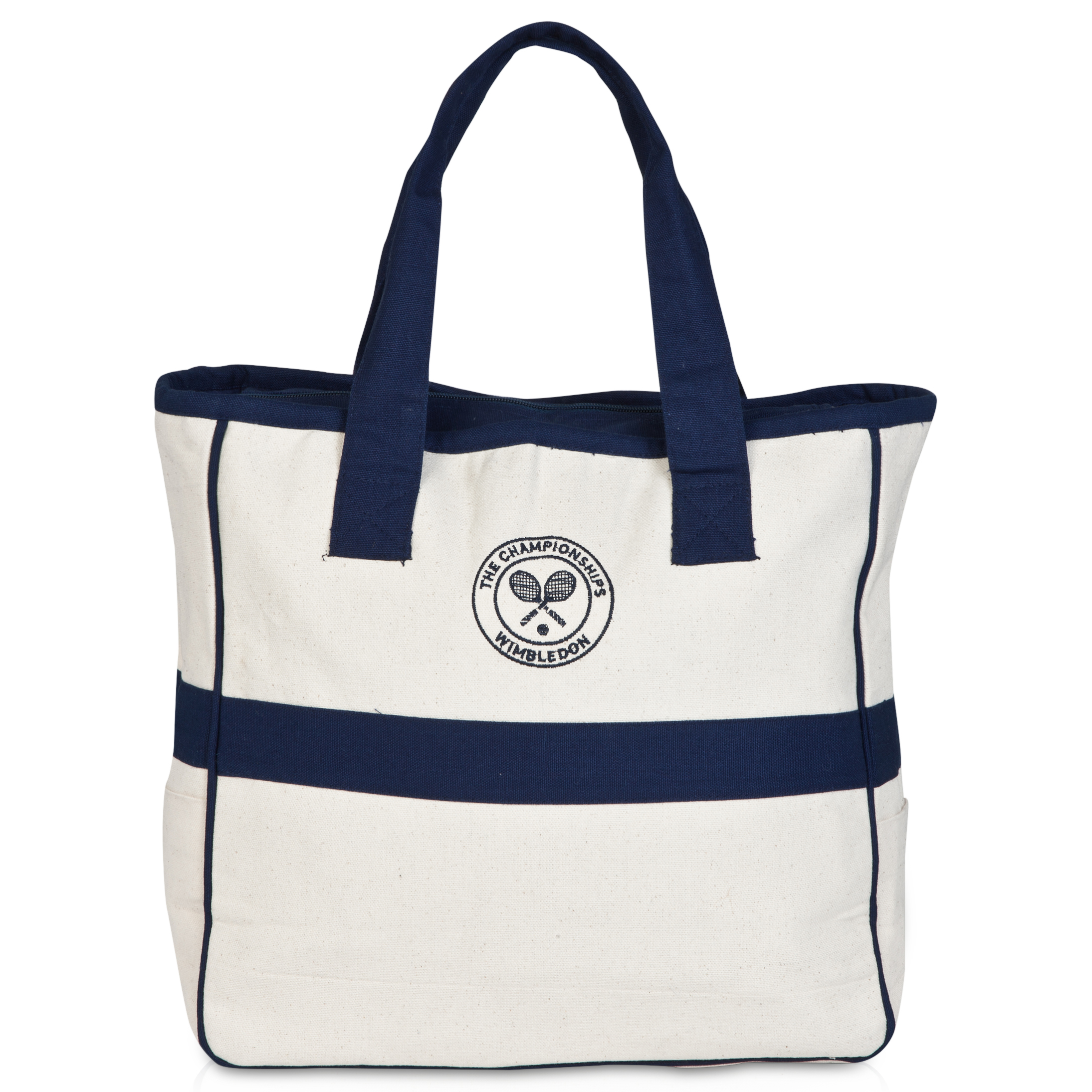 Wimbledon Square Canvas Tote Navy