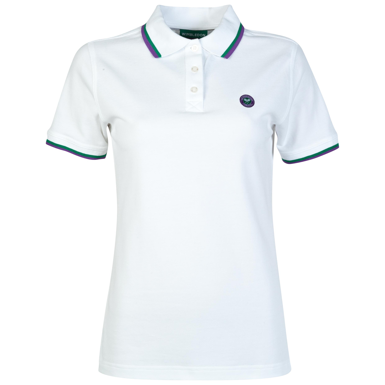 Wimbledon Pique Polo Shirt - Womens