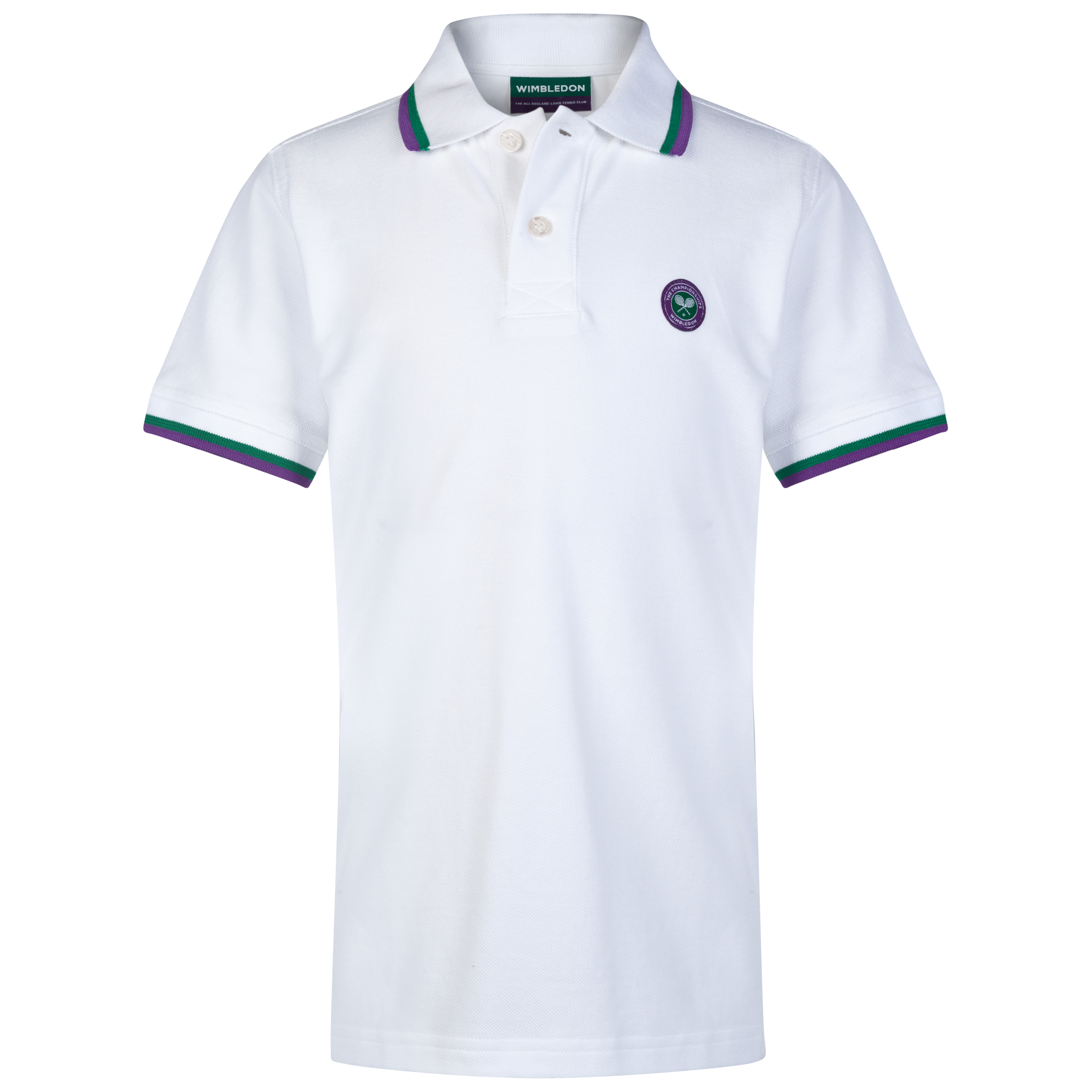 Wimbledon Pique Polo Shirt - Kids White