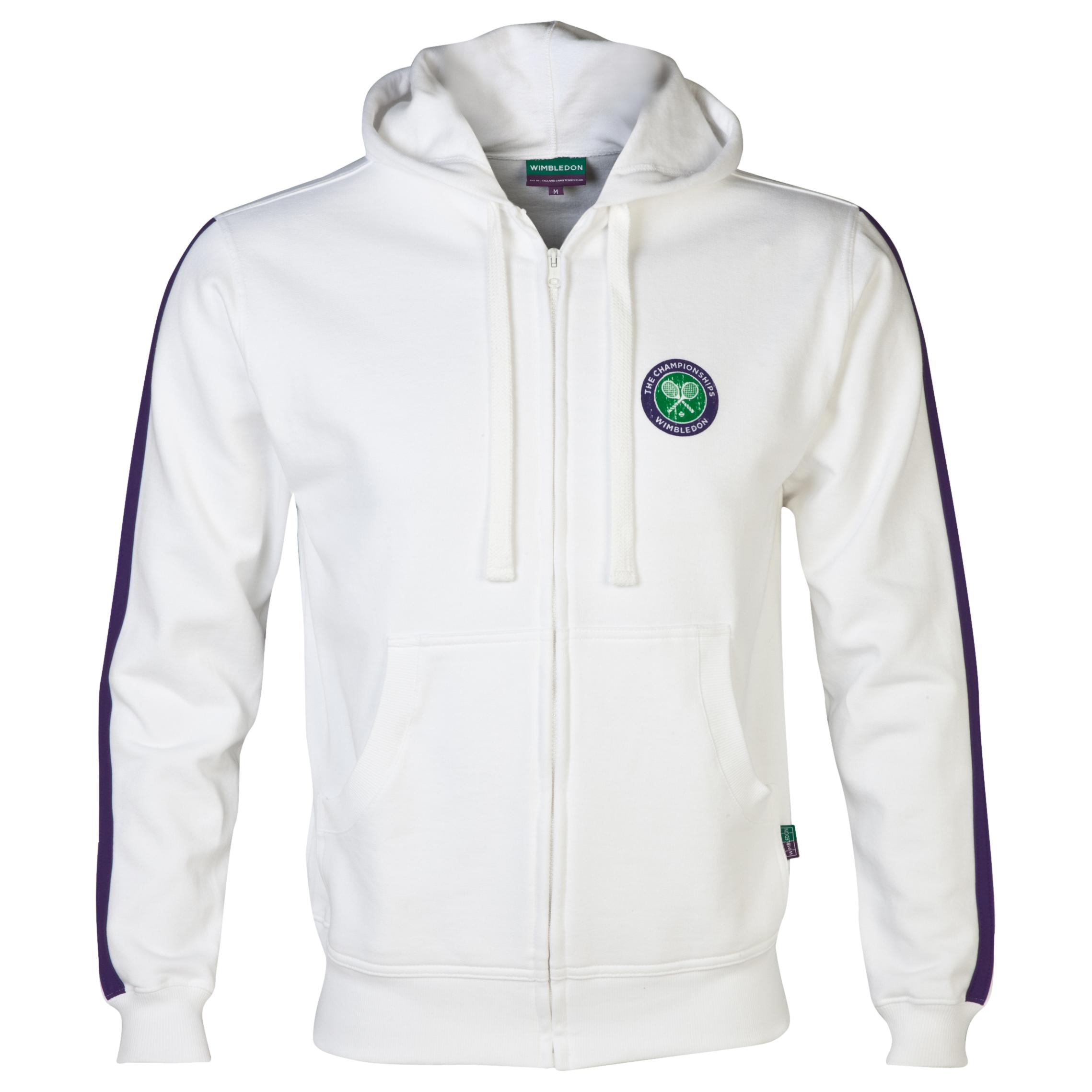 Wimbledon Classic Full Zip Hoodie White