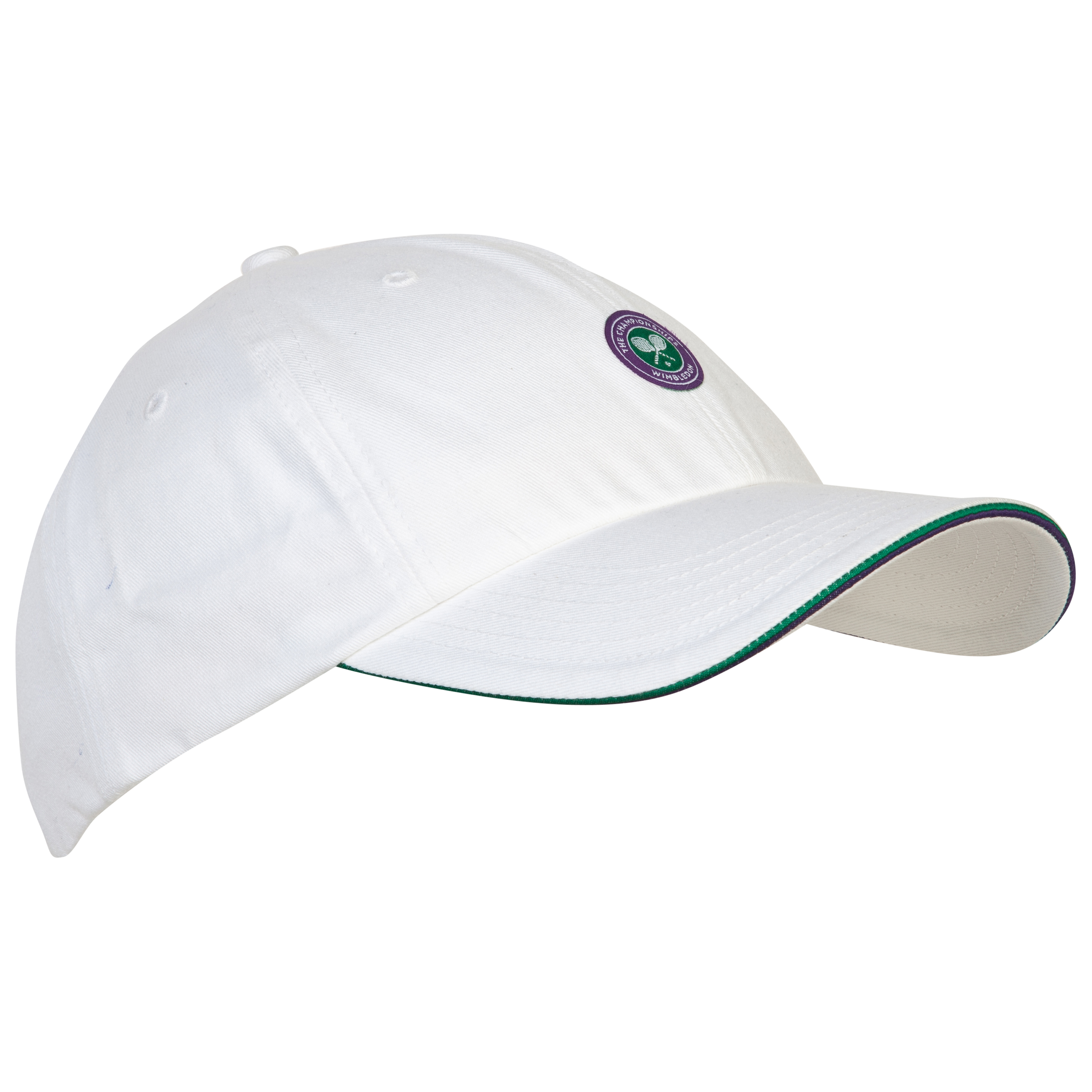 Wimbledon Adults Small Crossed Rackets Logo Cap White