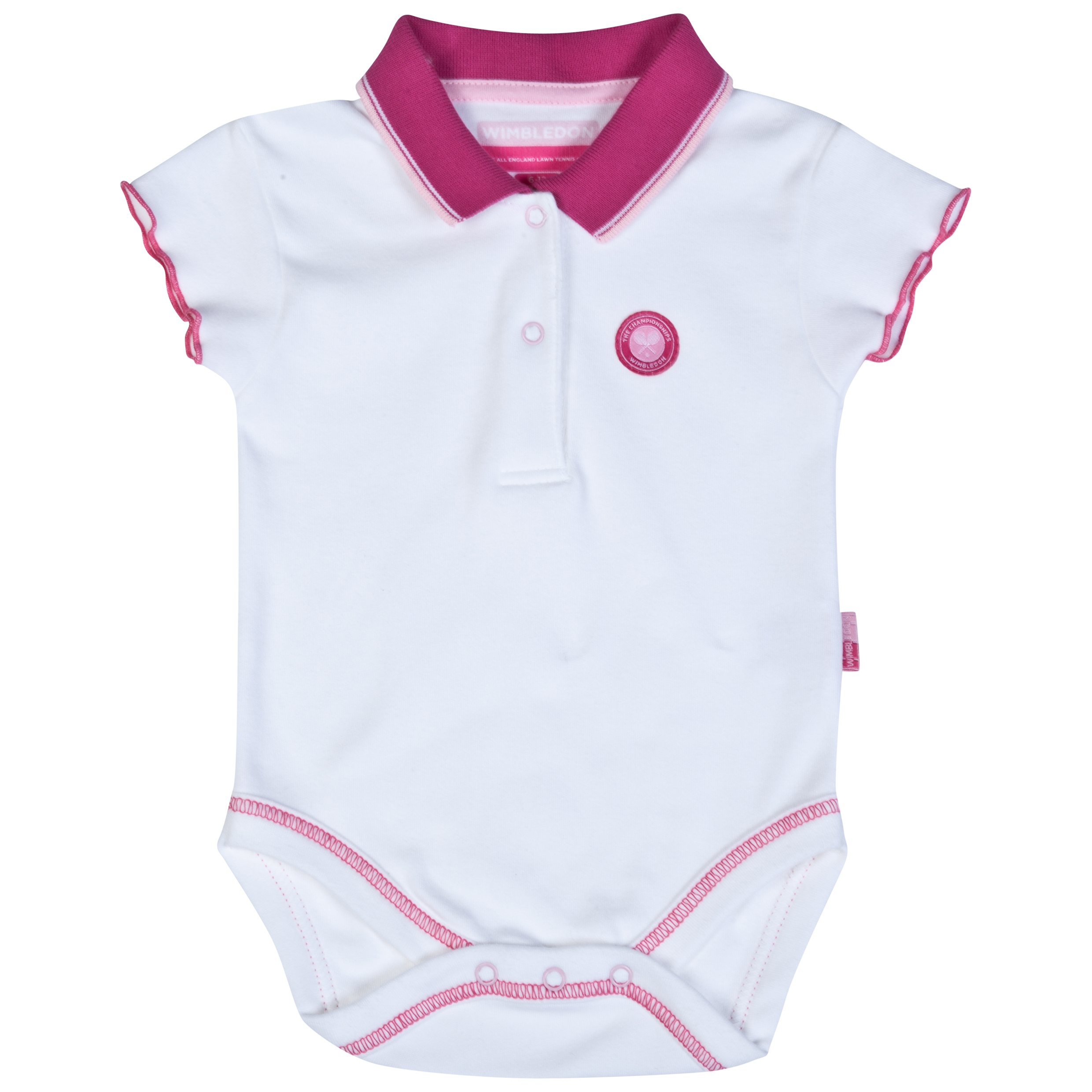 Wimbledon Baby Polo Shirt - Infants White