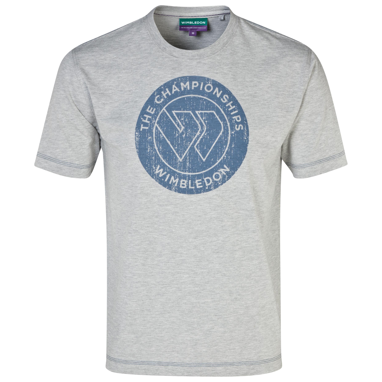 Wimbledon Flying W Print T-Shirt Grey