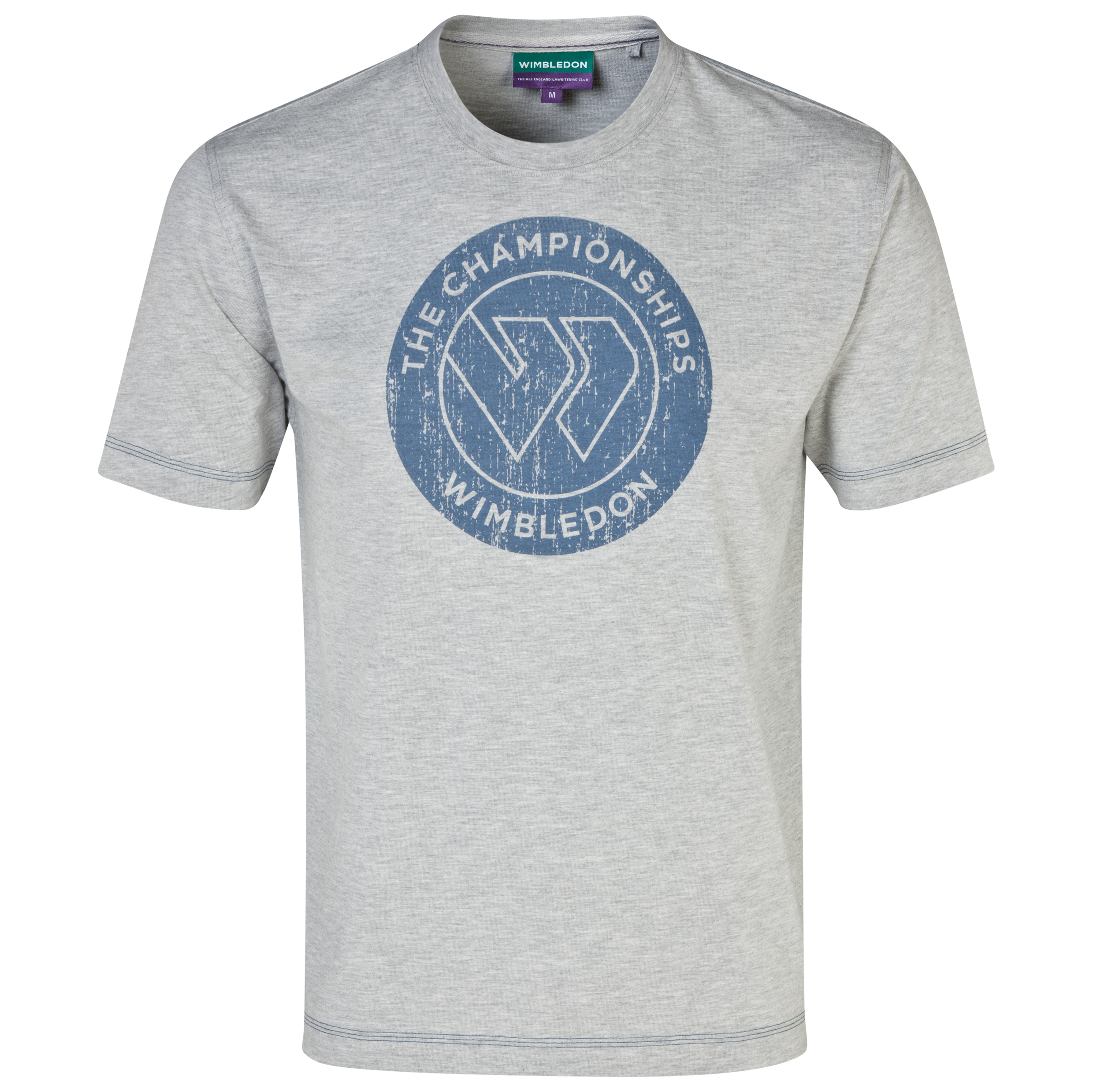 Wimbledon Flying W Print T-Shirt Grey