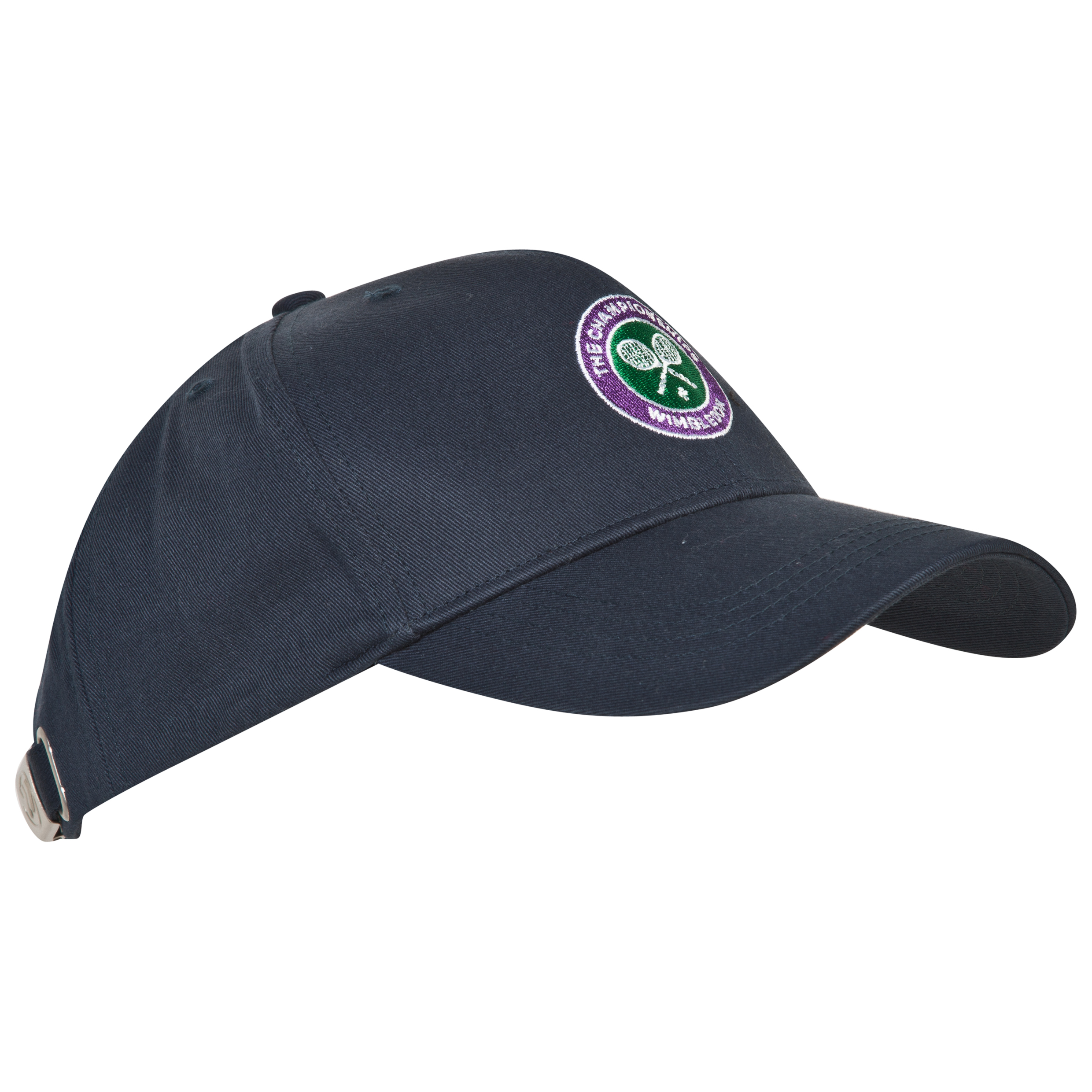 Wimbledon Crossed Rackets Cap - Kids Navy