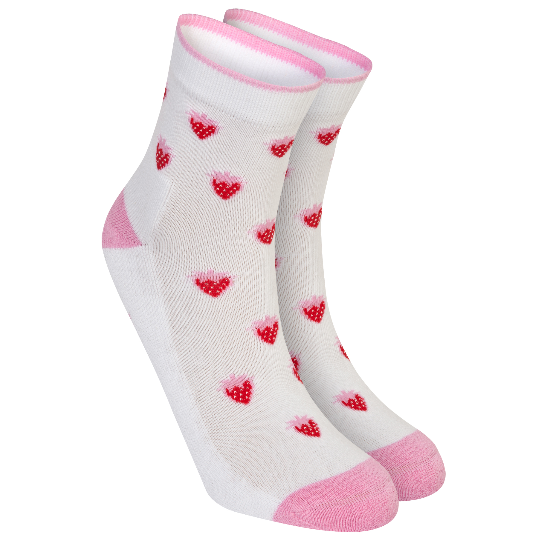 Wimbledon Strawberry Sock - Ladies White
