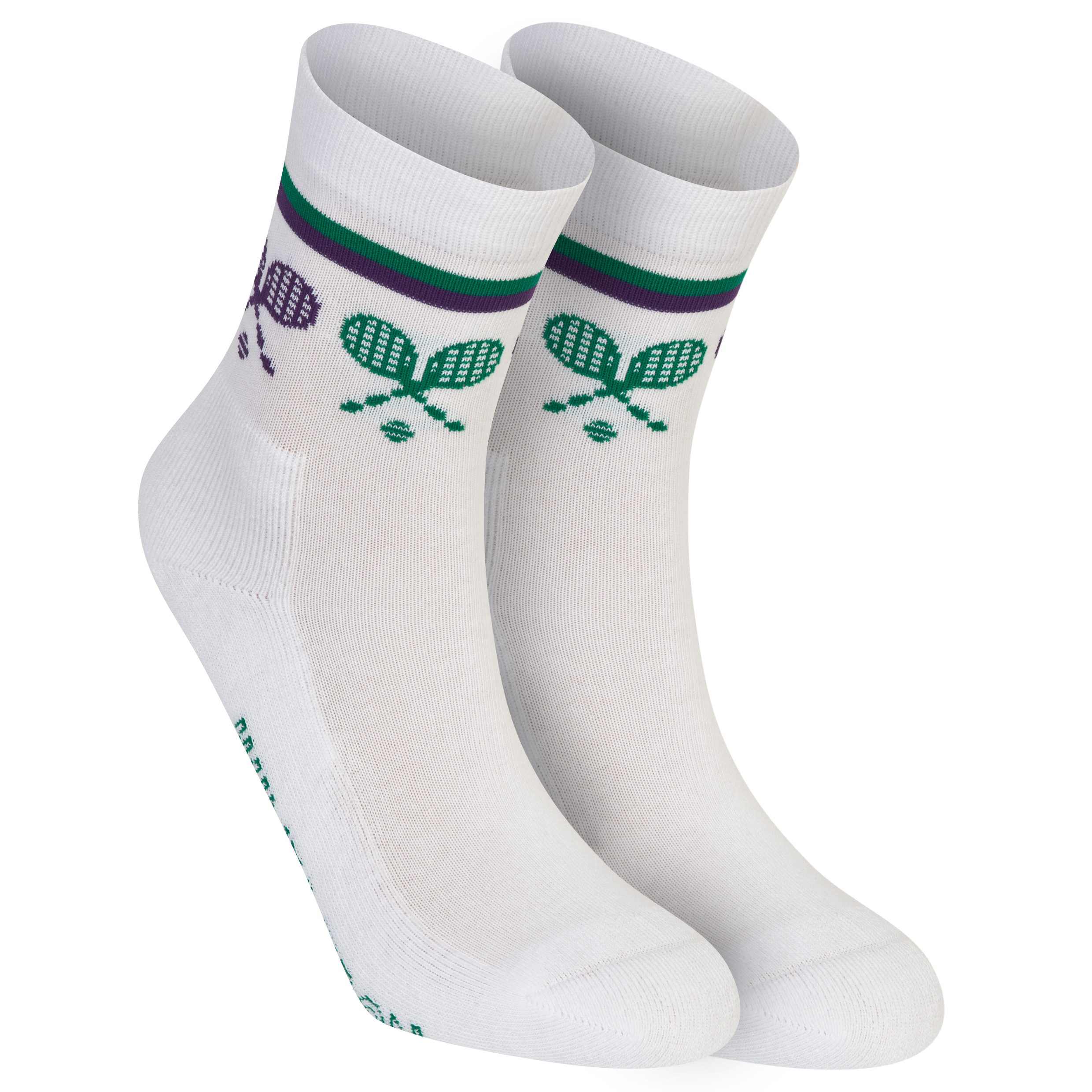 Wimbledon Crossed Racket Socks - Kids White