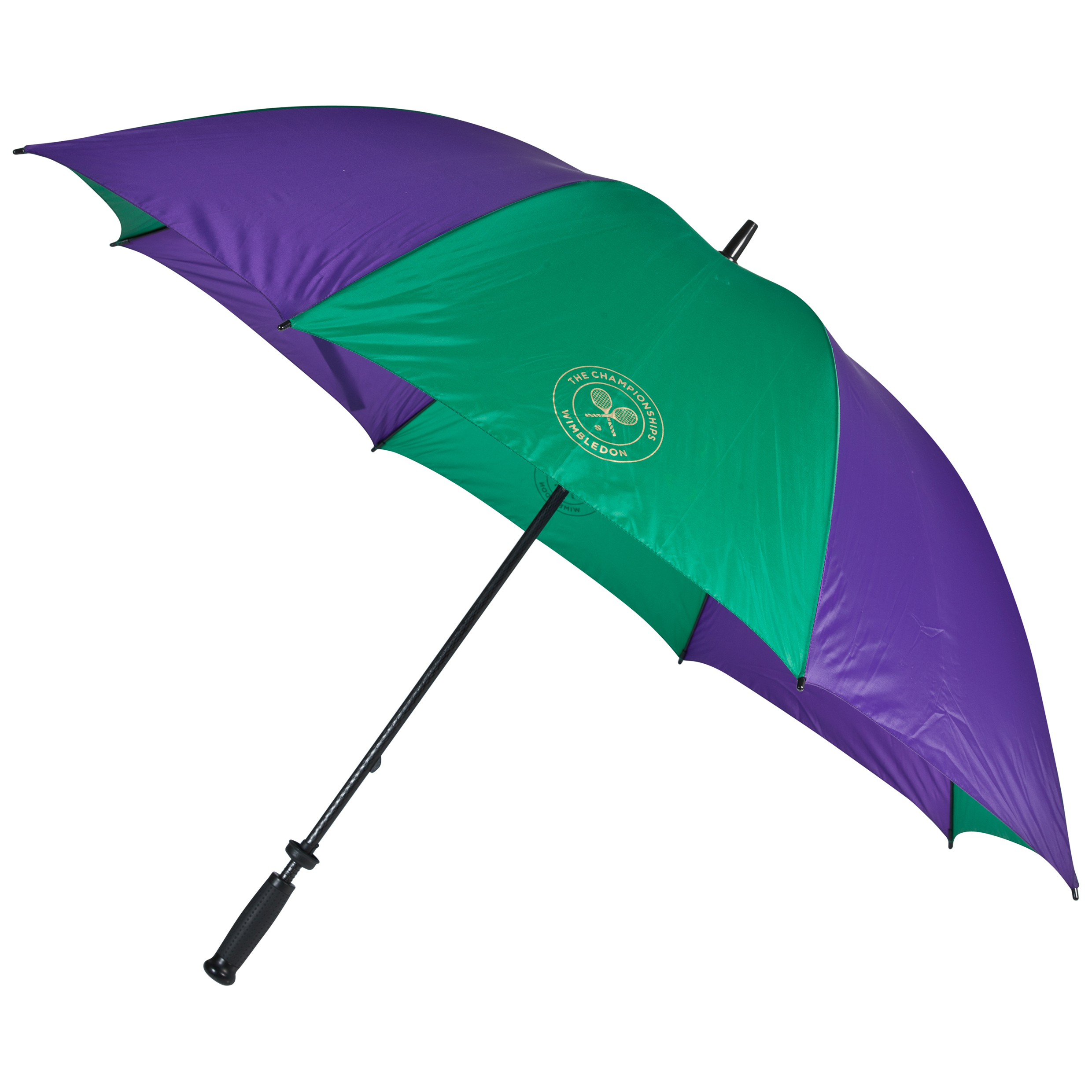 Wimbledon Large Golf Umbrella With Fibre-Glass Shaft Purple