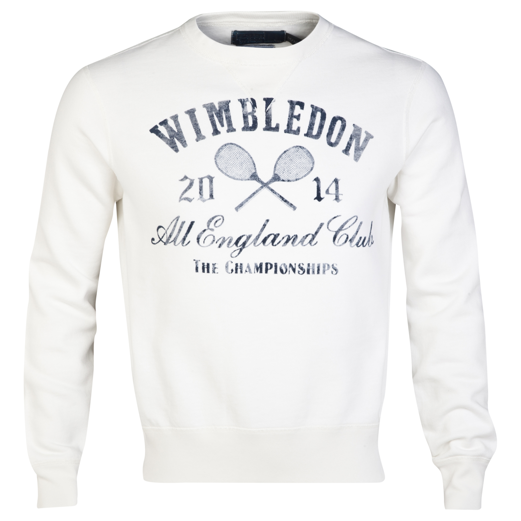 Wimbledon Polo Ralph Lauren Crew Neck Fleece Sweater - Nevis